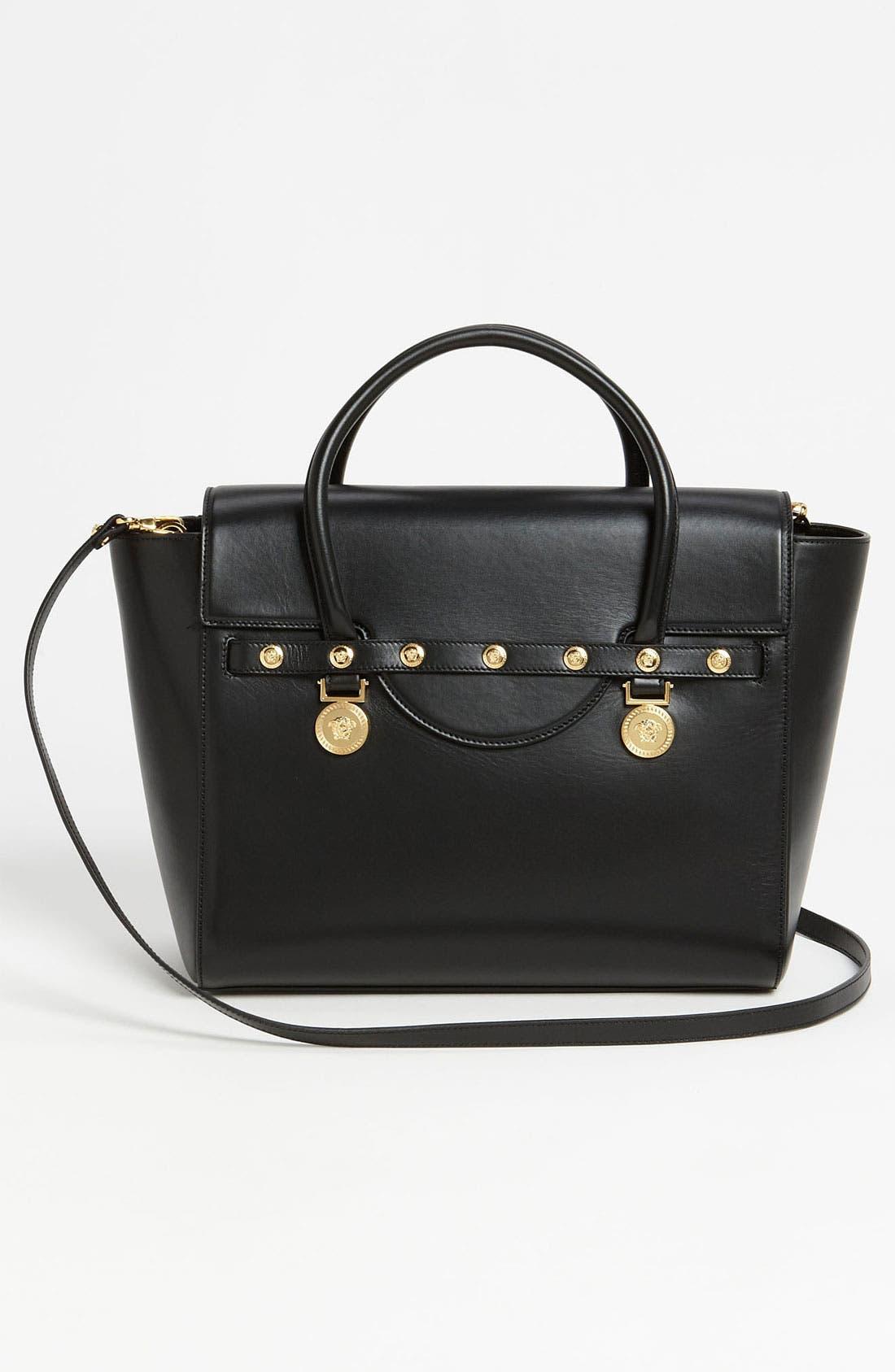 Alternate Image 4  - Versace 'Classic' Leather Satchel