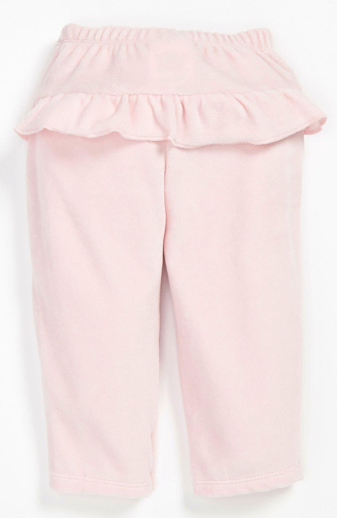 Alternate Image 2  - United Colors of Benetton Kids Velour Pants (Infant)
