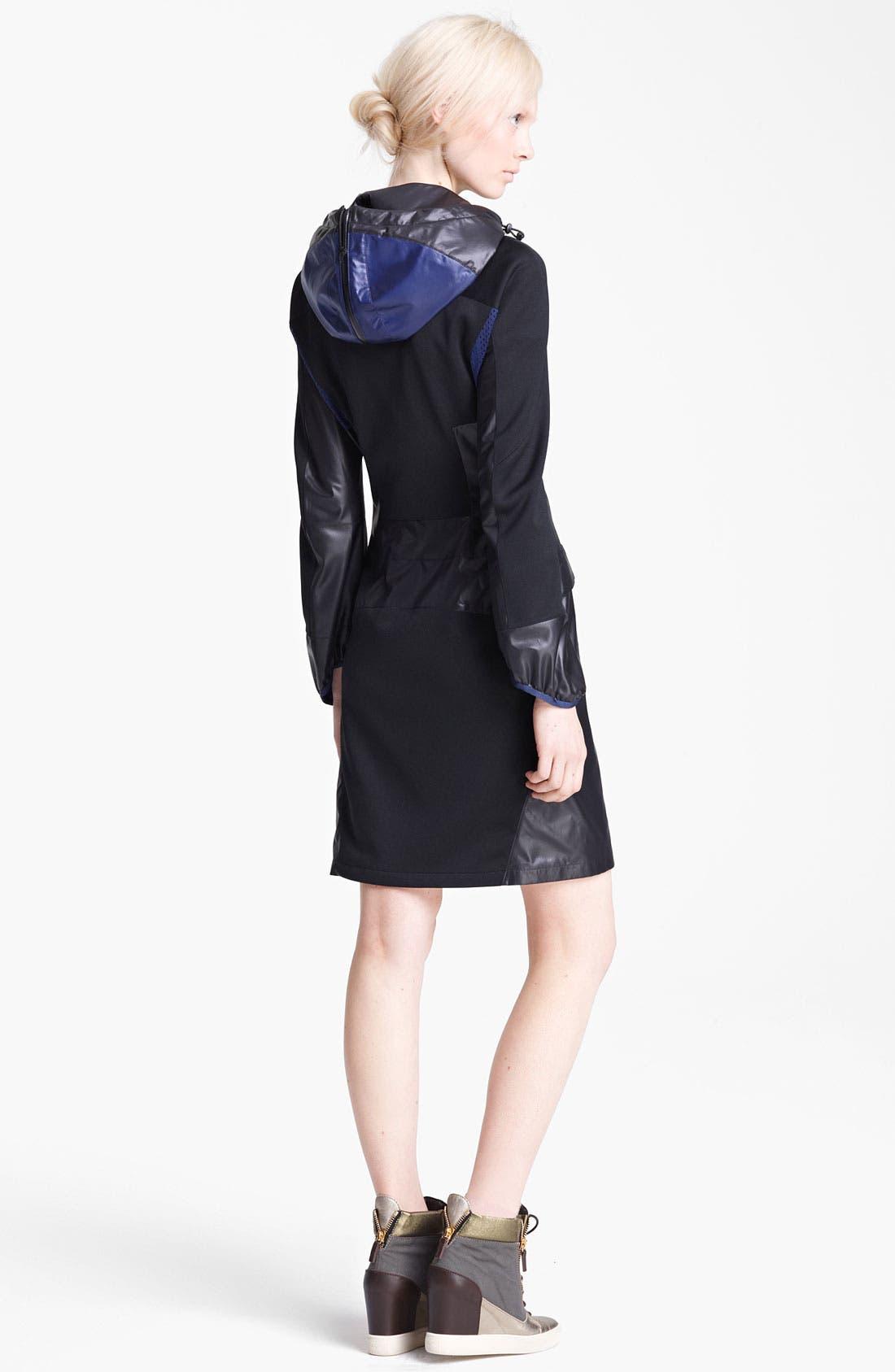 Alternate Image 2  - Junya Watanabe Hooded Ripstop Nylon Coat
