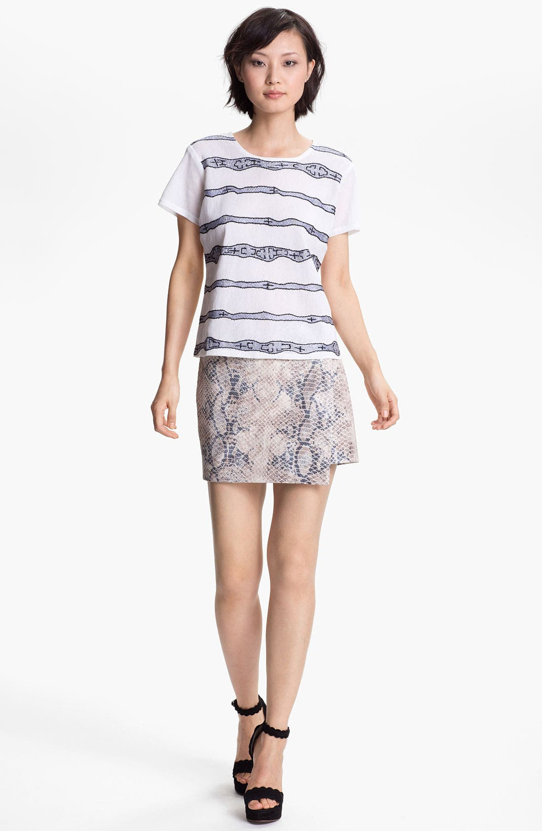 Alternate Image 5  - Gryphon Embossed Wrap Skirt