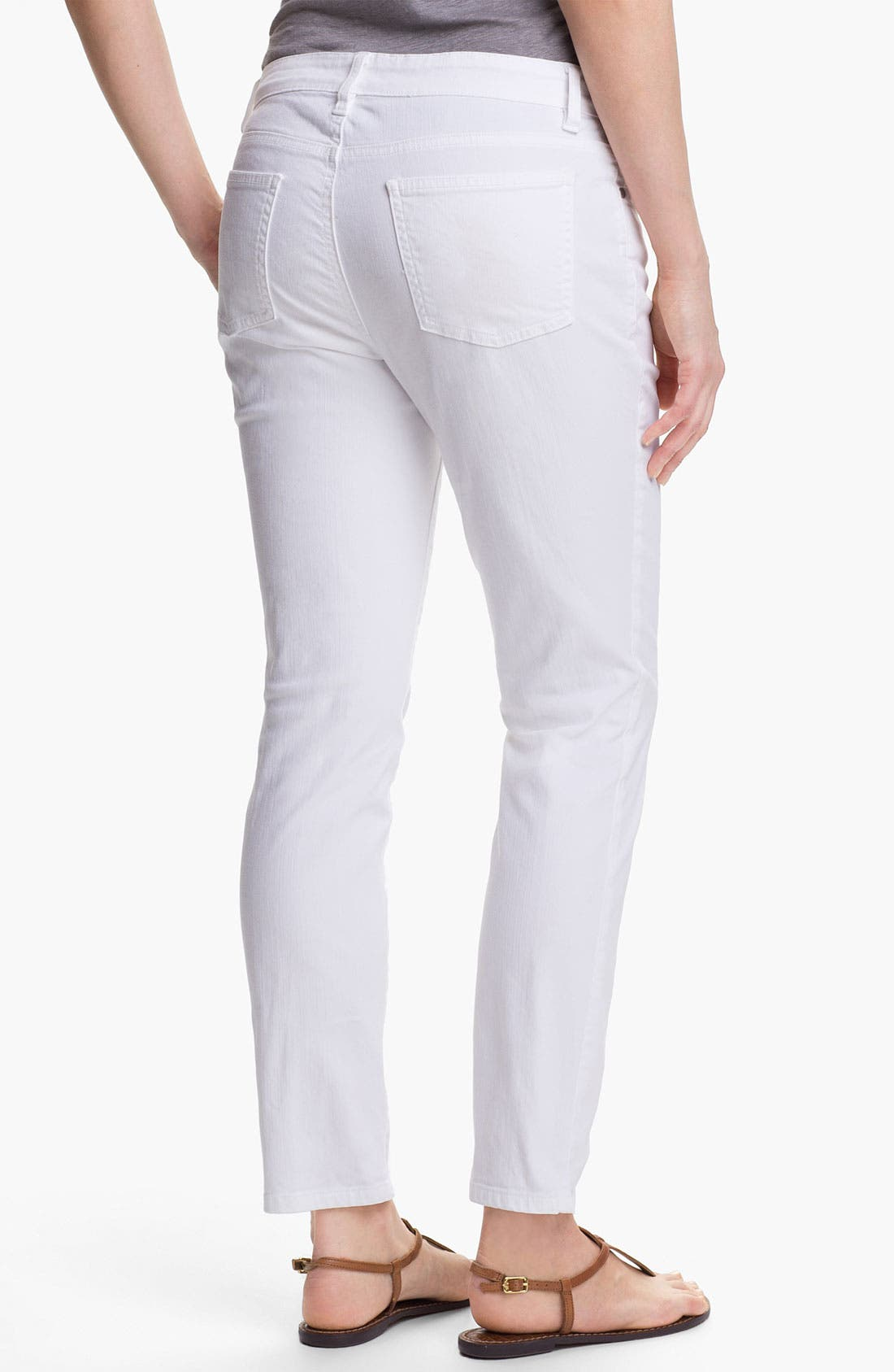 Alternate Image 2  - Eileen Fisher Skinny Ankle Jeans (Petite)