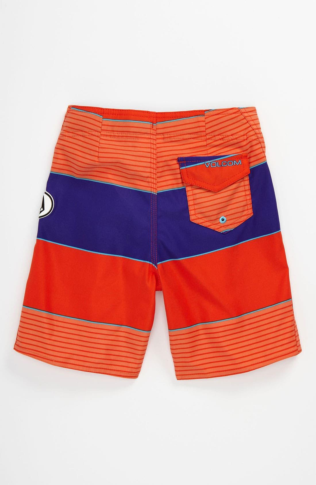 Alternate Image 2  - Volcom 'Maguro' Stripe Board Shorts (Big Boys)