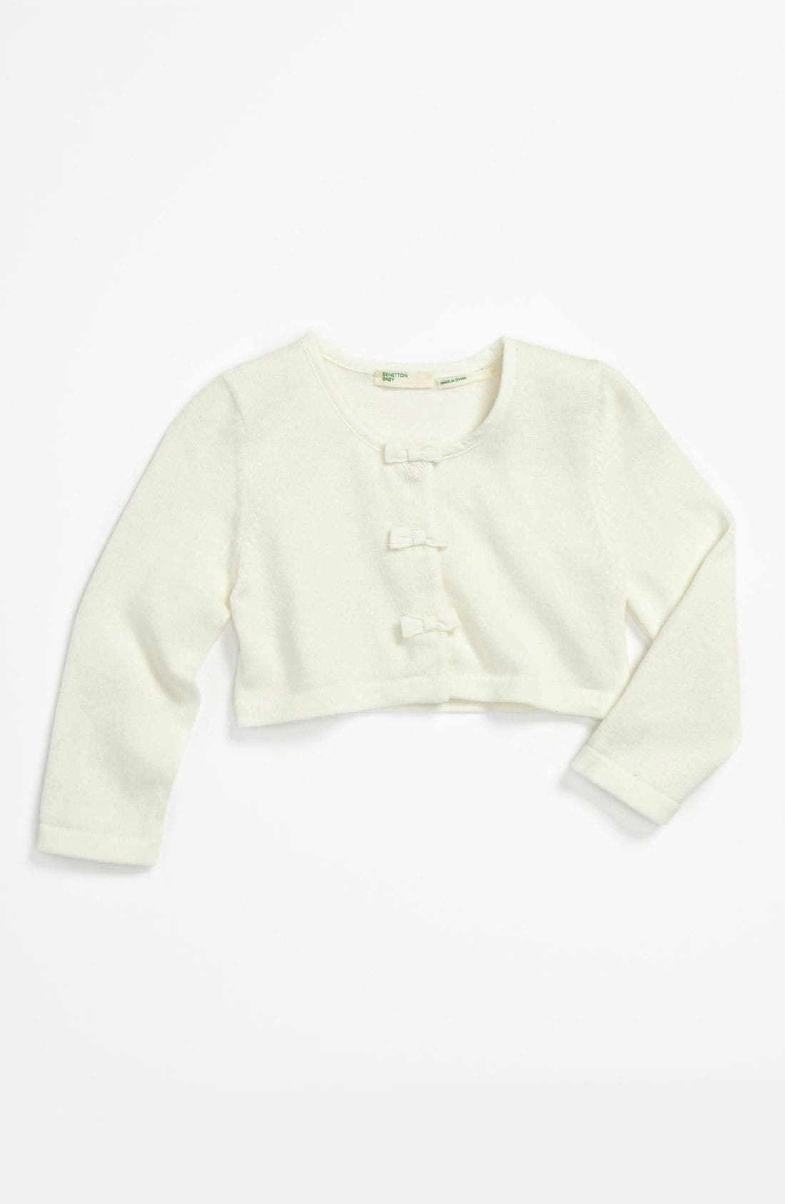 Alternate Image 1 Selected - United Colors of Benetton Kids Crop Cardigan (Infant)