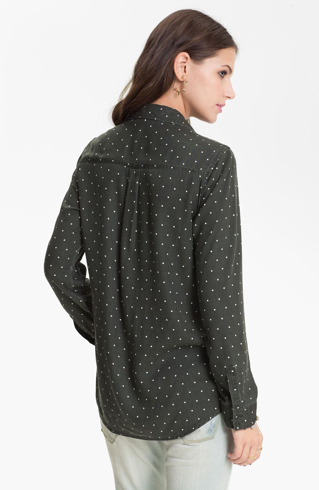 Alternate Image 2  - Rubbish® Mini Dot Menswear Shirt (Juniors)