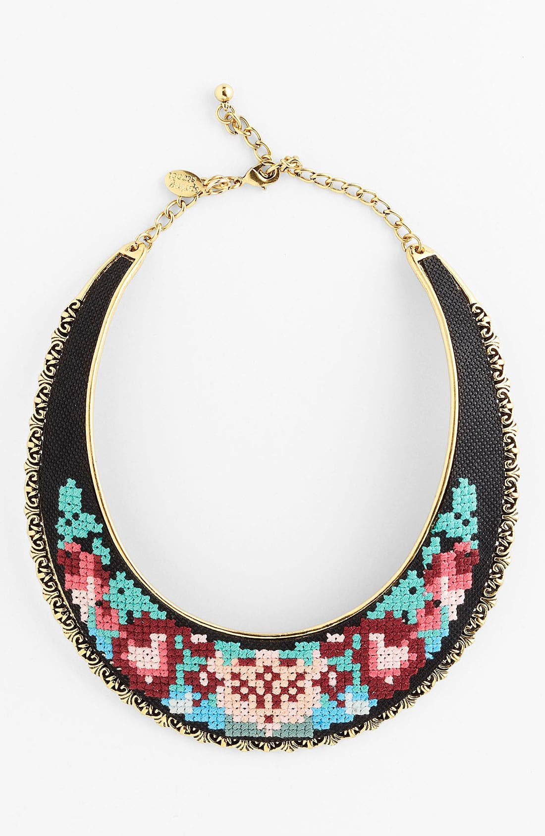 Alternate Image 1 Selected - Spring Street Embroidered Bib Necklace