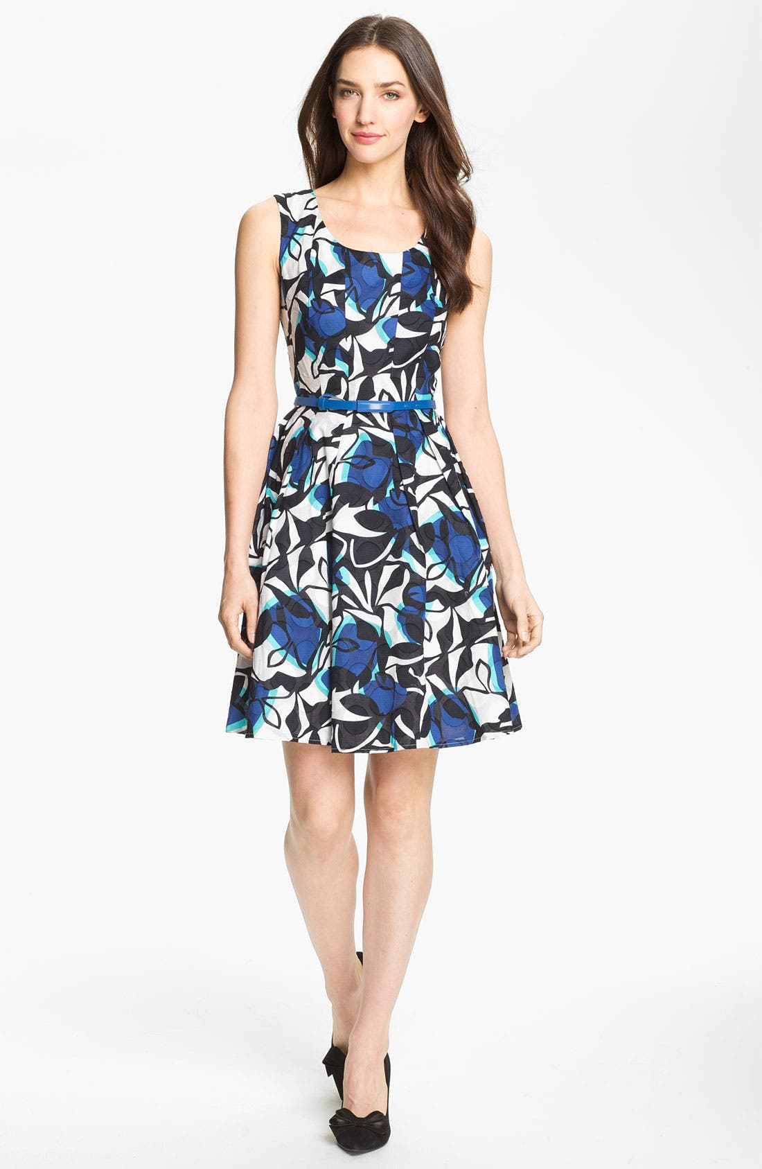 Alternate Image 1 Selected - Donna Ricco Print Fit & Flare Dress