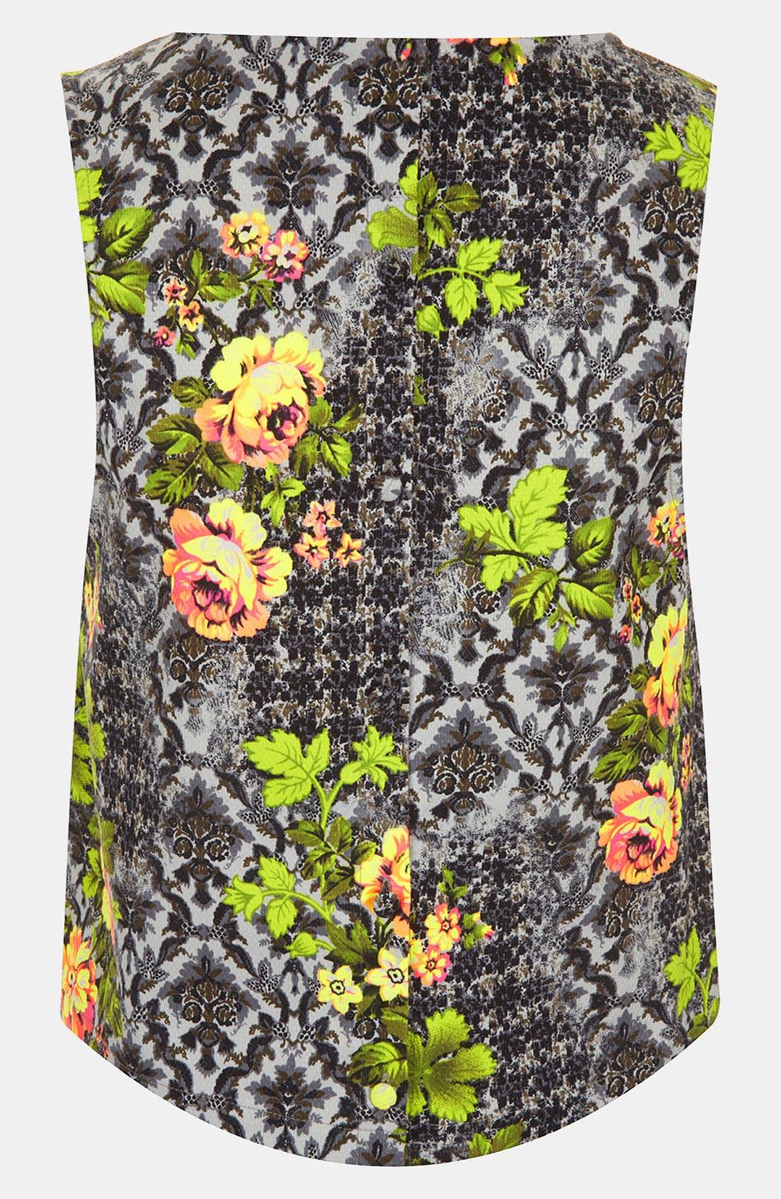 Alternate Image 2  - Topshop 'Acid Leaf' Sleeveless Shirt