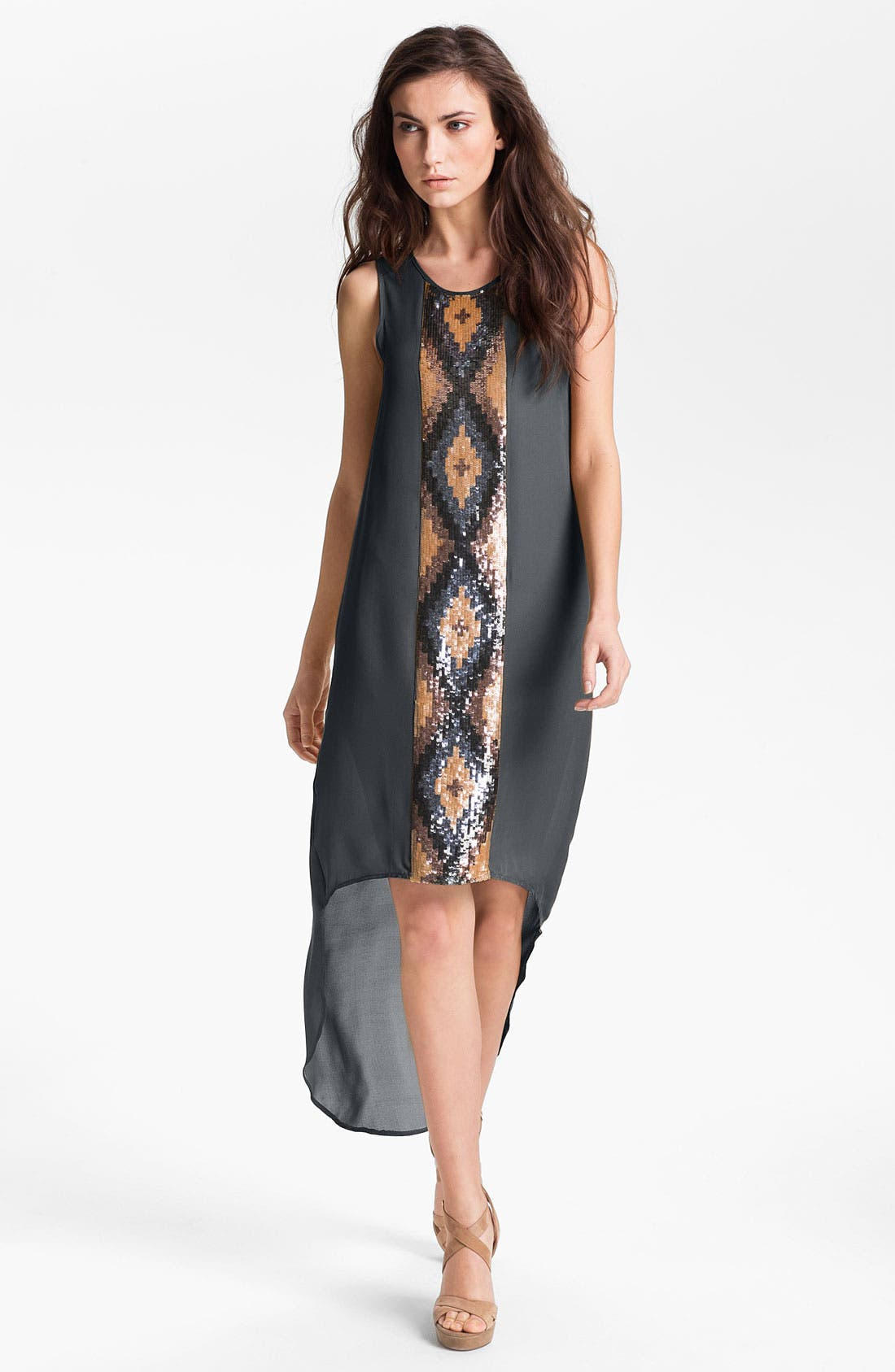 Main Image - Haute Hippie Embellished Panel High/Low Dress