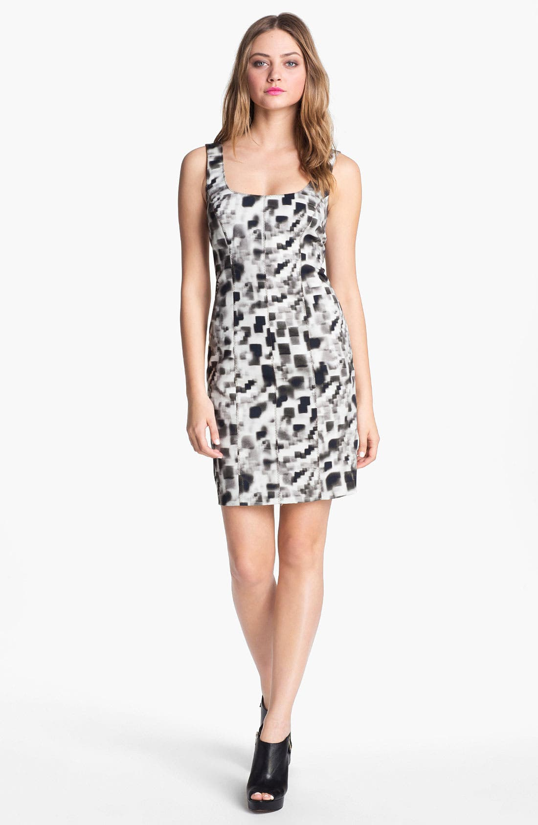 Alternate Image 1 Selected - Nicole Miller Print Sheath Dress