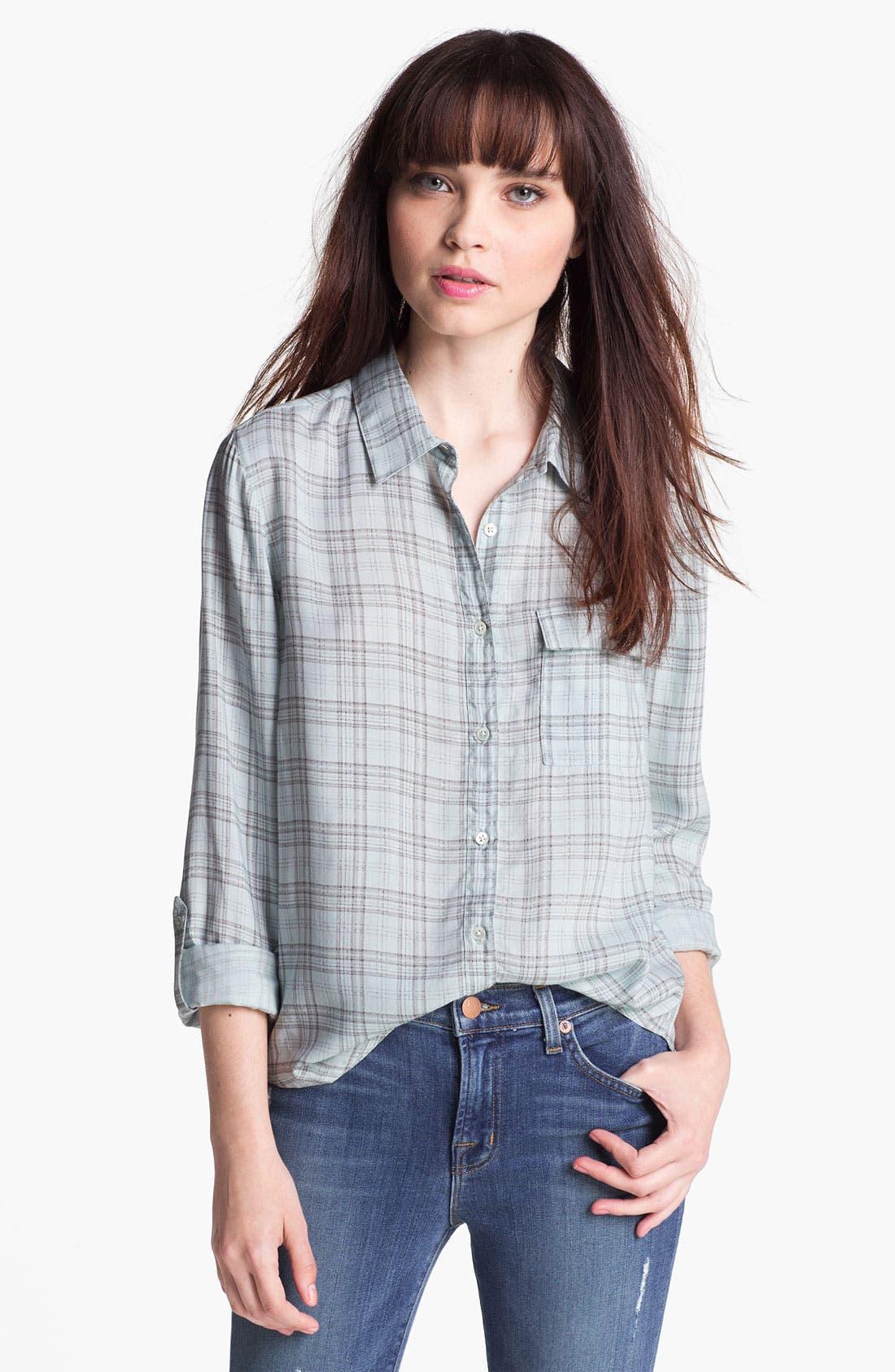 Alternate Image 1 Selected - Soft Joie Plaid Pocket Shirt