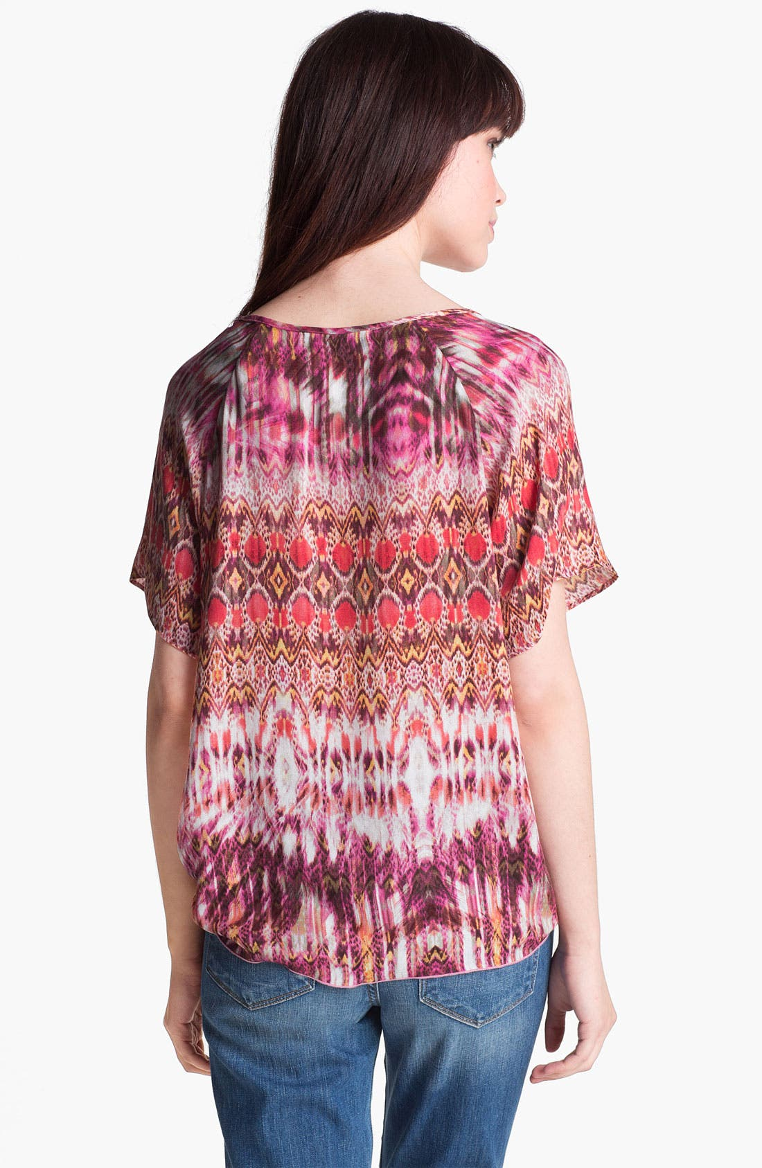 Alternate Image 2  - Velvet by Graham & Spencer Aztec Print Tie Front Top