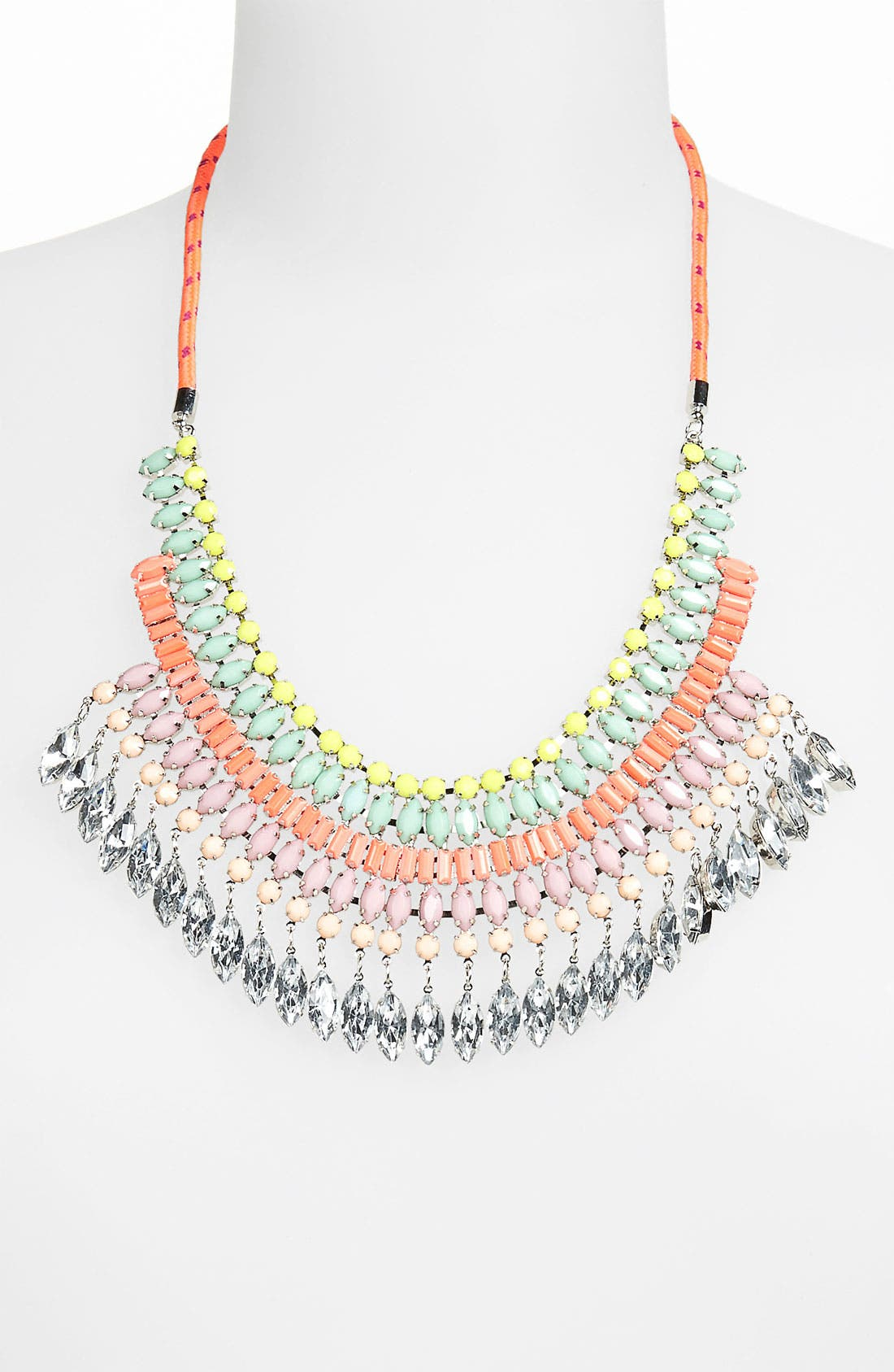 Main Image - Topshop 'Rhinestone Bling' Statement Necklace