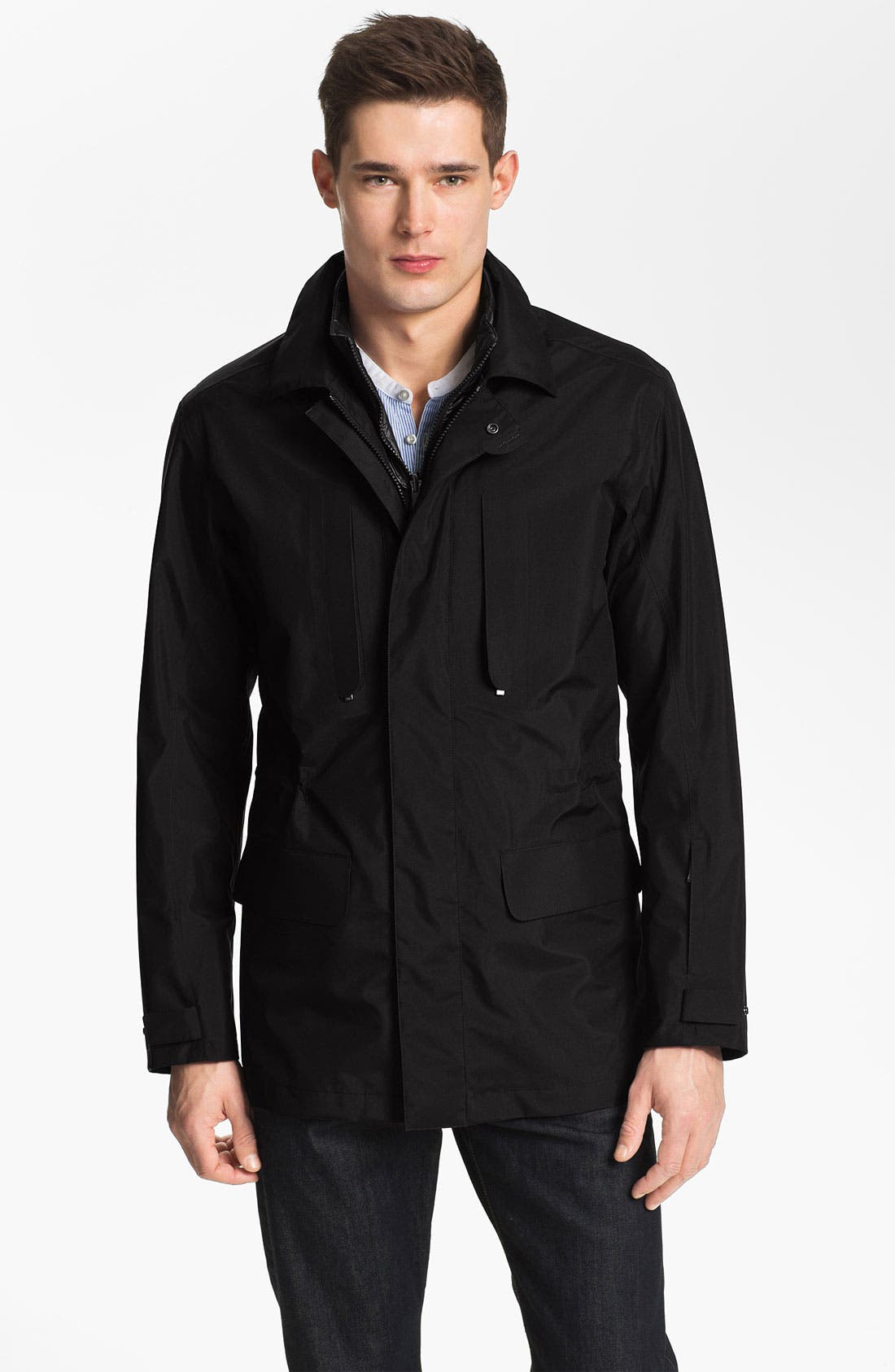 Alternate Image 1 Selected - Zegna Sport Blazer Style Field Jacket with Removable Zip Vest
