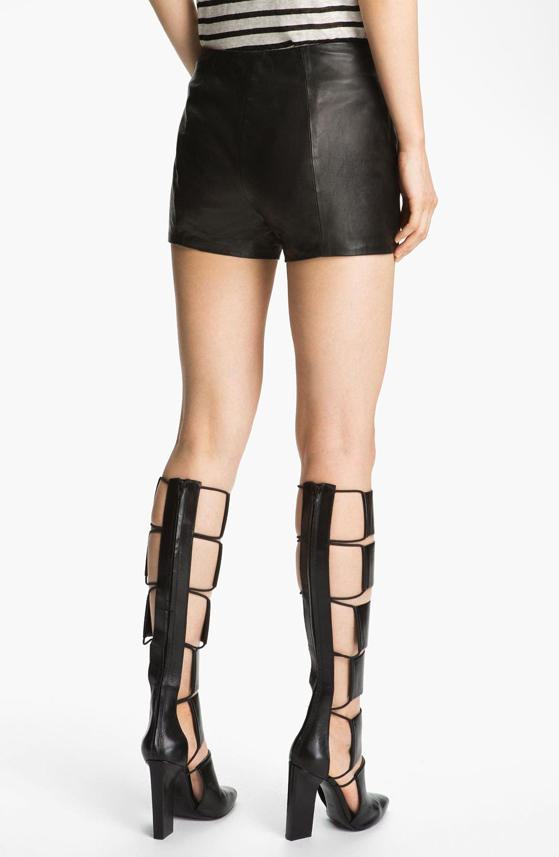 Alternate Image 3  - T by Alexander Wang Lightweight Leather Shorts