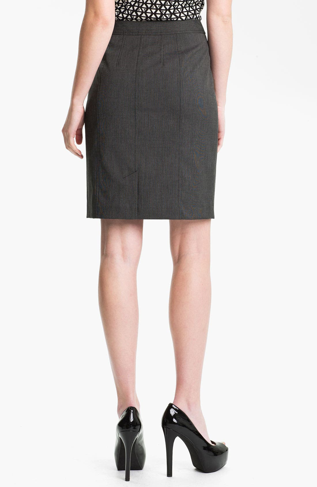 Alternate Image 2  - Halogen® 'End on End' Skirt (Petite)