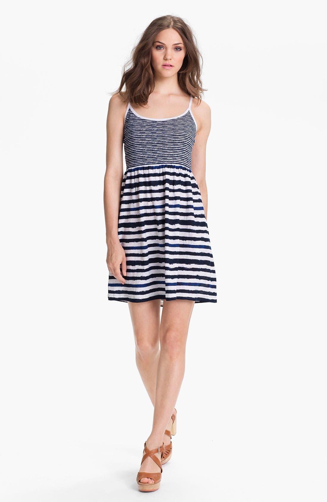 Main Image - Caslon Mix Stripe Knit Dress
