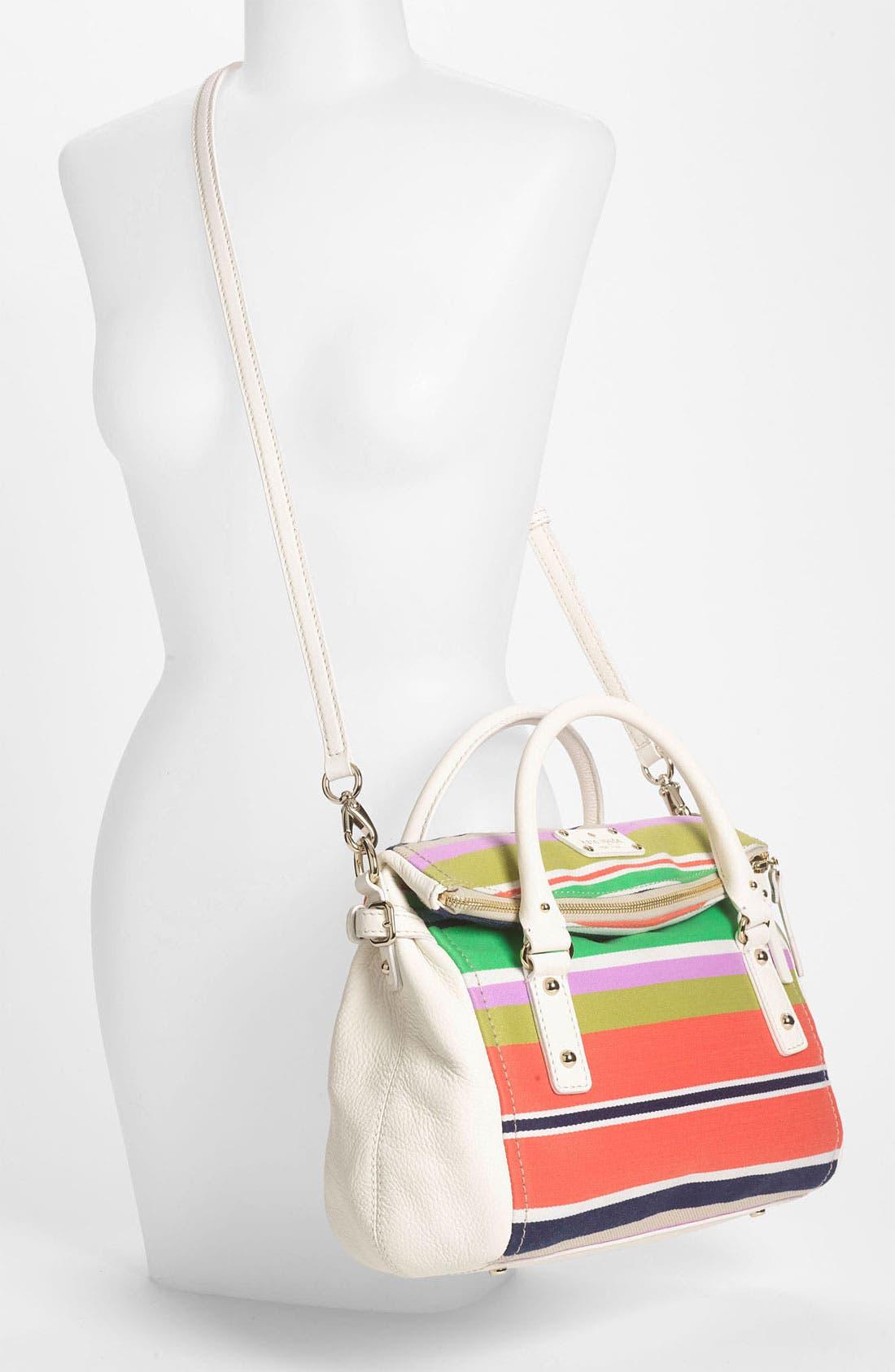 Alternate Image 2  - kate spade new york 'cobble hill stripe - small leslie' satchel