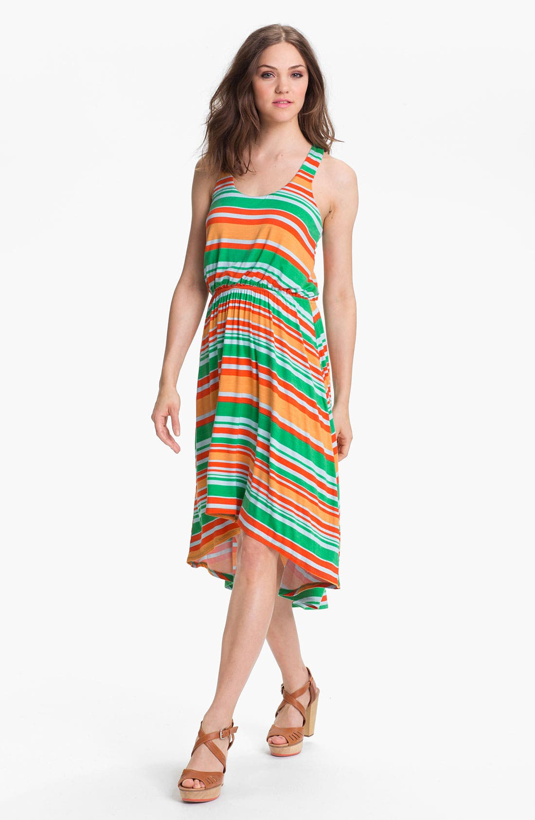 Main Image - Bobeau Racerback High/Low Dress