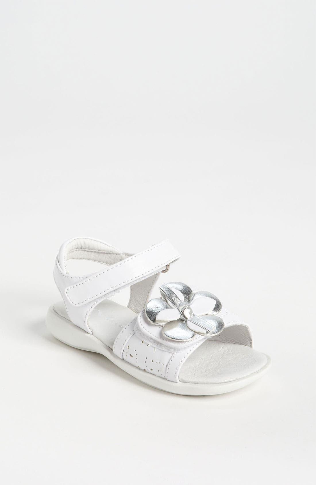 Main Image - Nina 'Constance' Flower Sandal (Walker & Toddler)