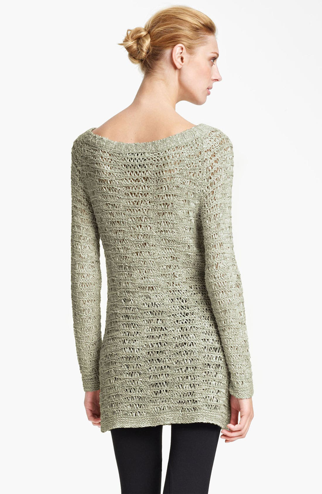 Alternate Image 2  - Donna Karan Collection Open Knit Sweater