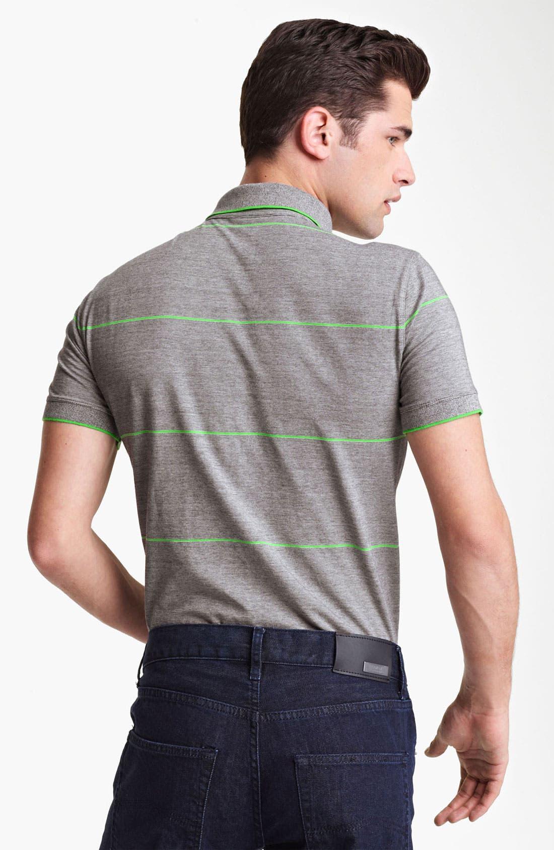 Alternate Image 2  - Armani Collezioni Stripe Jersey Polo