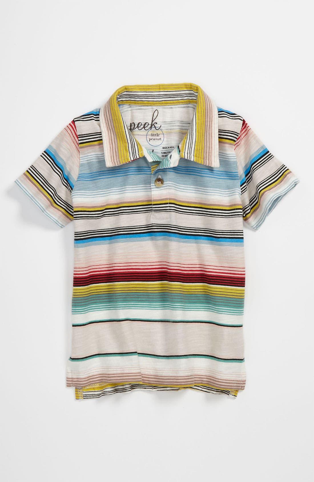 Alternate Image 1 Selected - Peek Stripe Polo Shirt (Baby)