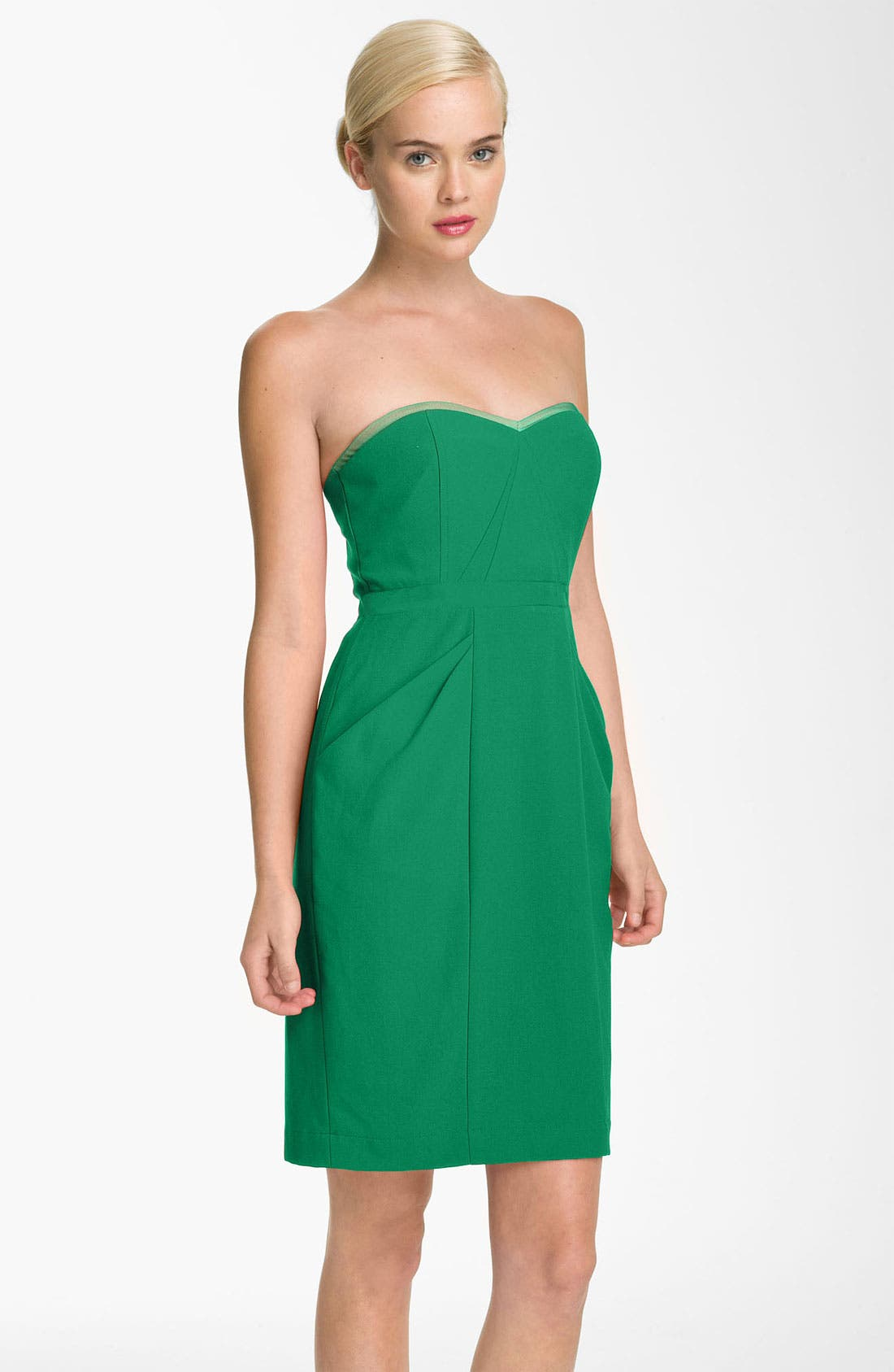 Main Image - BCBGMAXAZRIA Sweetheart Neckline Crepe Sheath Dress