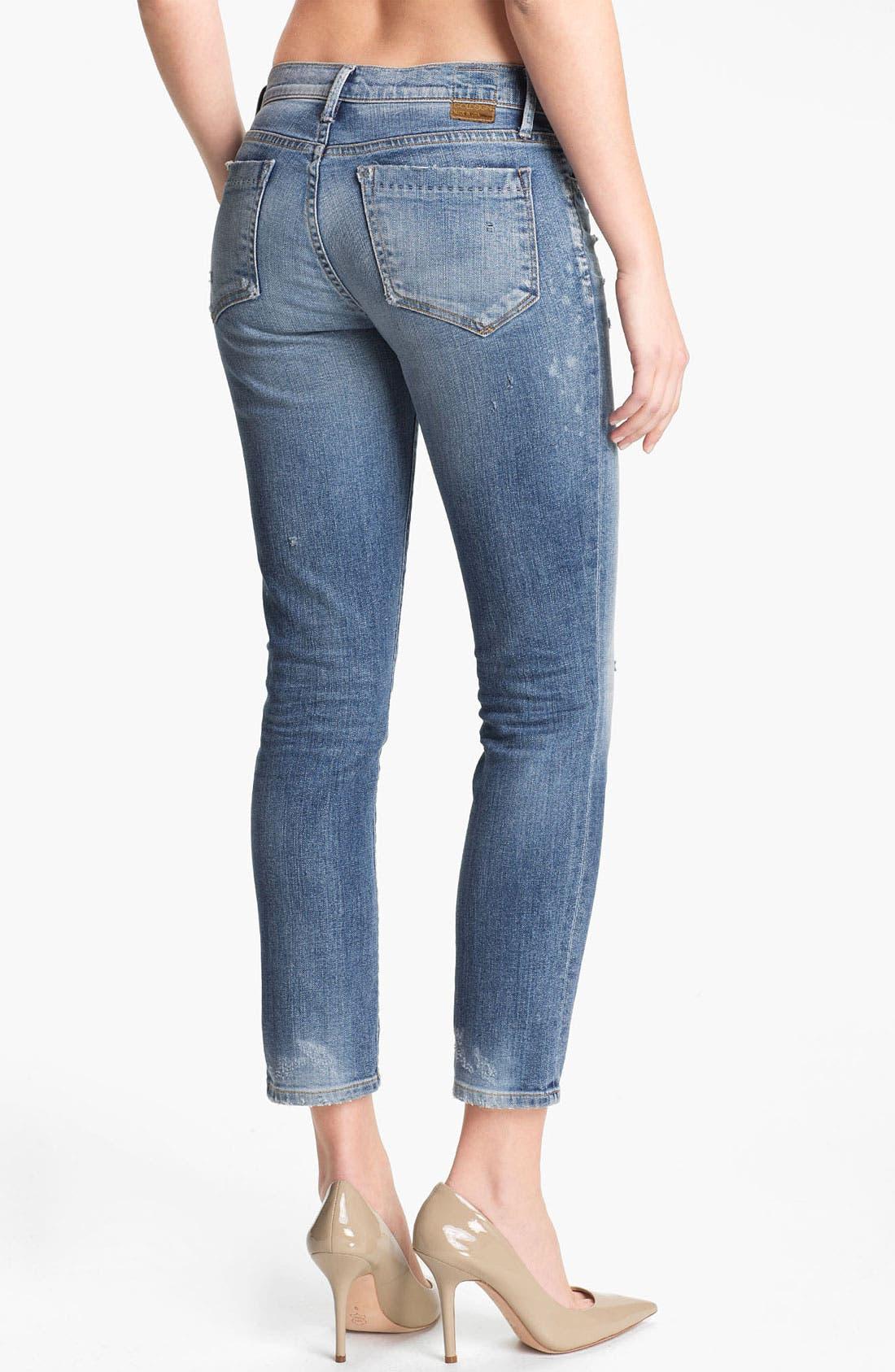 Alternate Image 2  - Goldsign 'Frontier' Crop Skinny Stretch Jeans (Ruby)