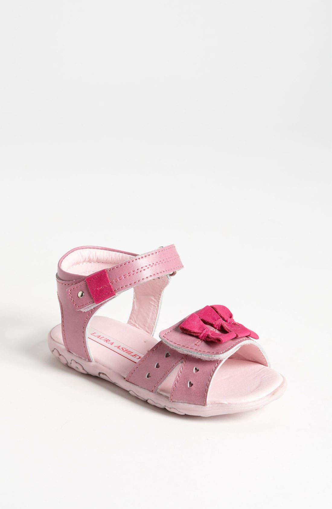 Alternate Image 1 Selected - Laura Ashley 'Bow' Sandal (Walker & Toddler)