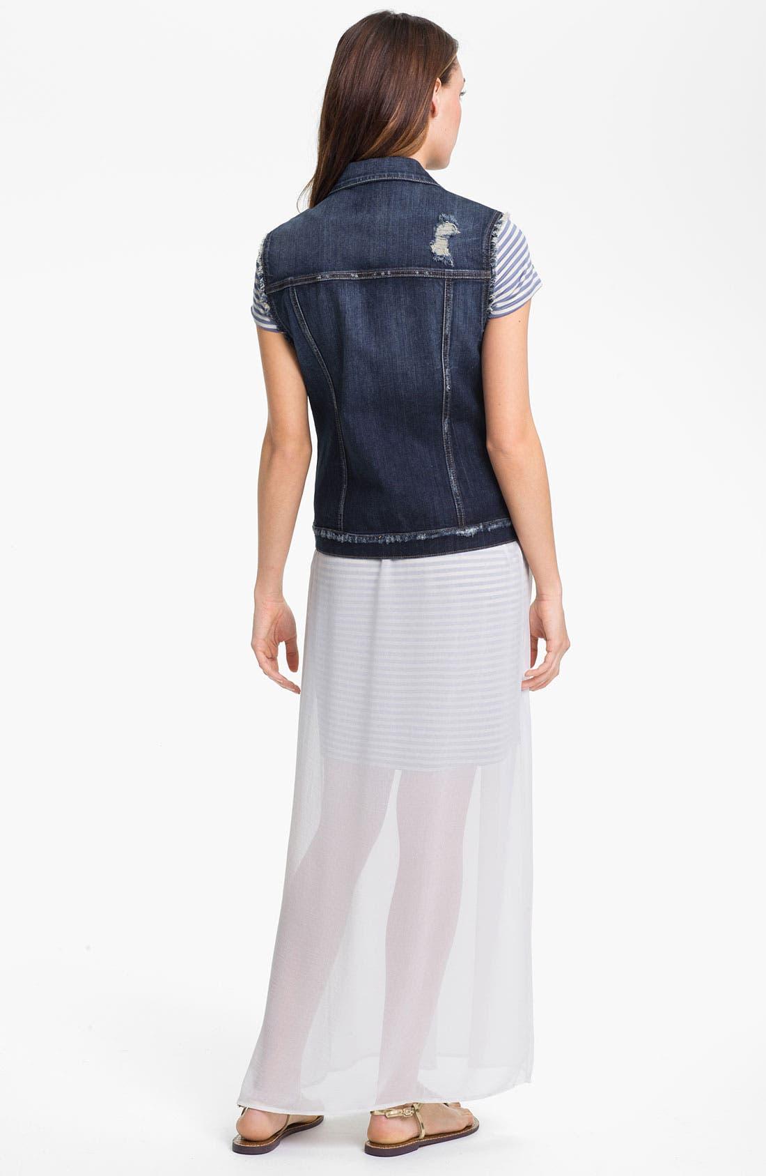Alternate Image 4  - KUT from the Kloth Distressed Denim Vest