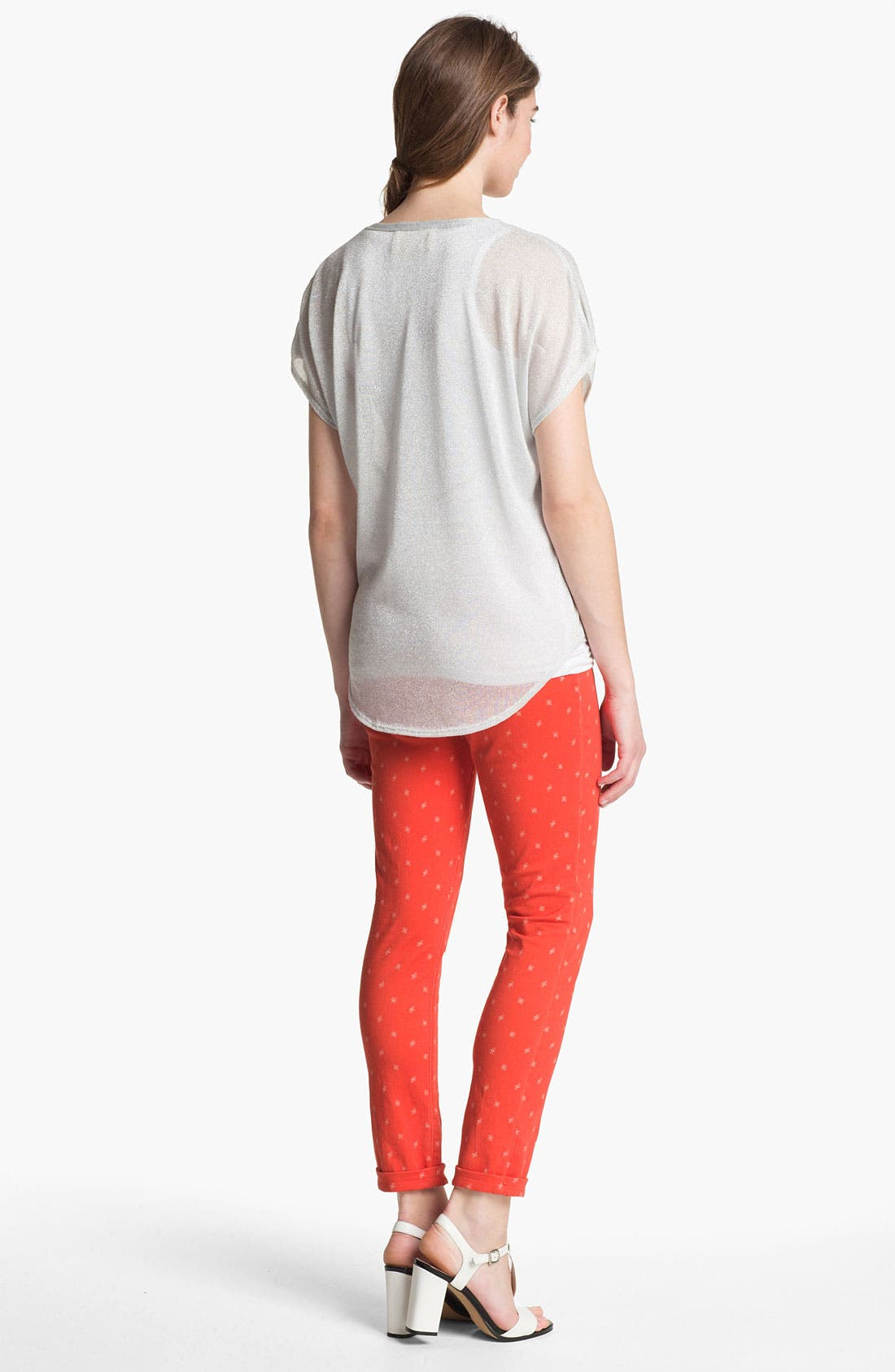 Alternate Image 5  - Two by Vince Camuto 'Shorty' Star Print Jeans (Fiery Red)