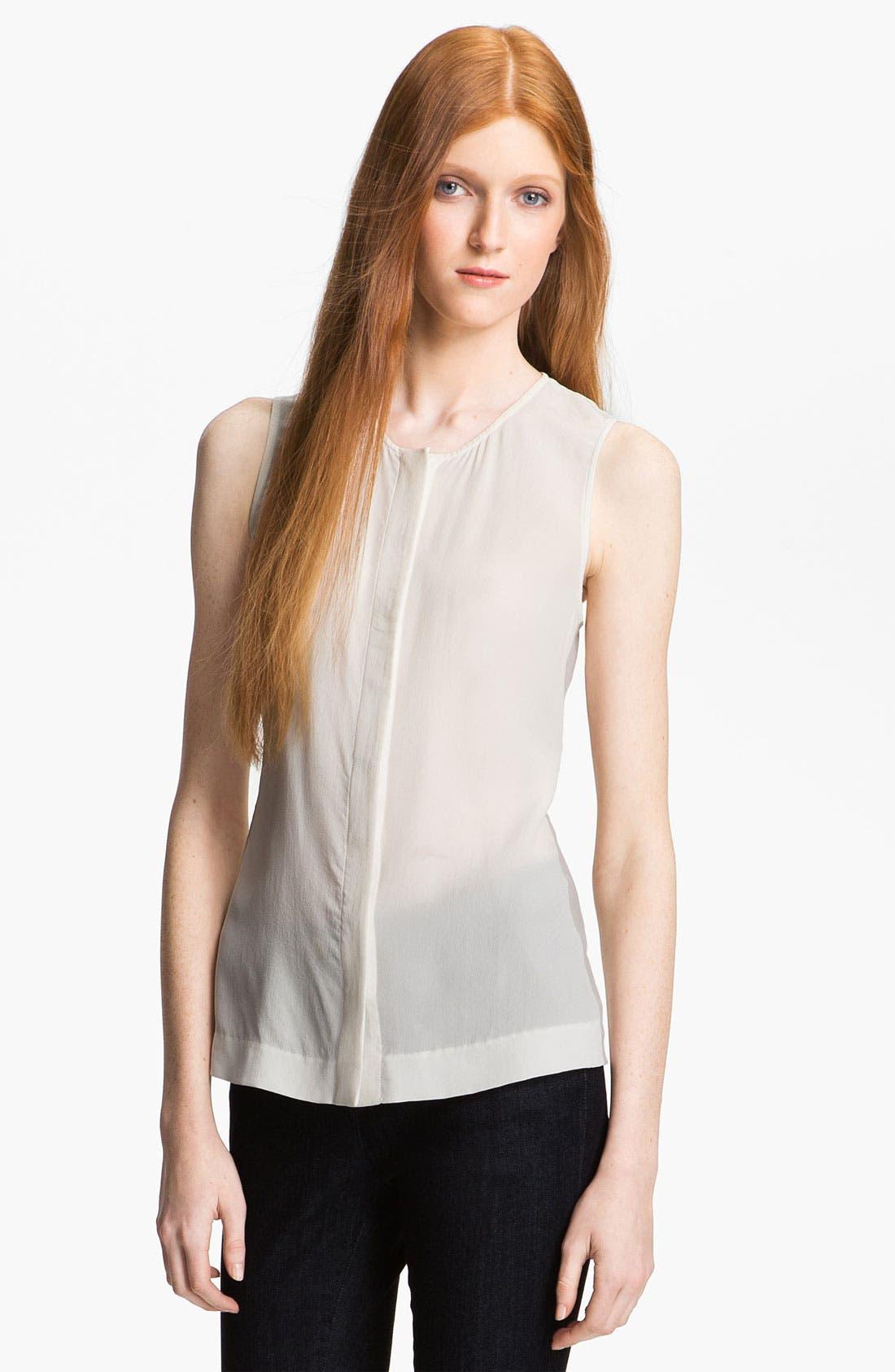 Alternate Image 1 Selected - Rachel Zoe 'Angela' Sheer Silk Top