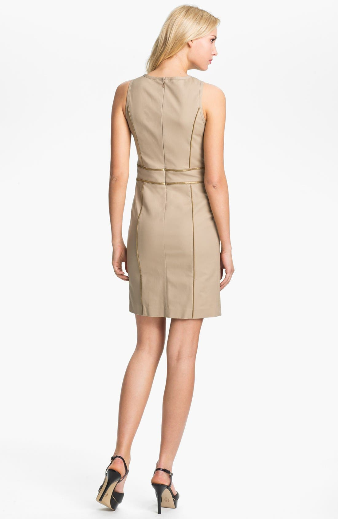 Alternate Image 2  - MICHAEL Michael Kors Zip Trim Sheath Dress (Petite)