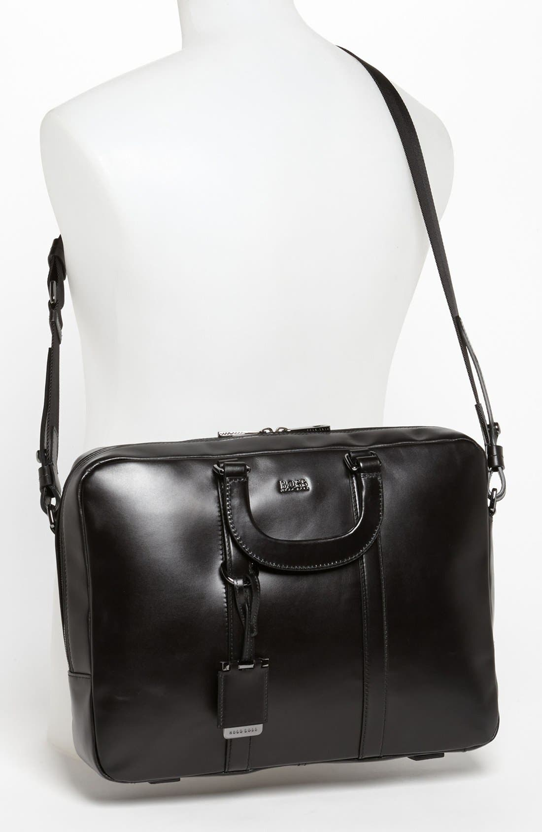 Alternate Image 4  - BOSS Black 'Possiv' Leather Briefcase