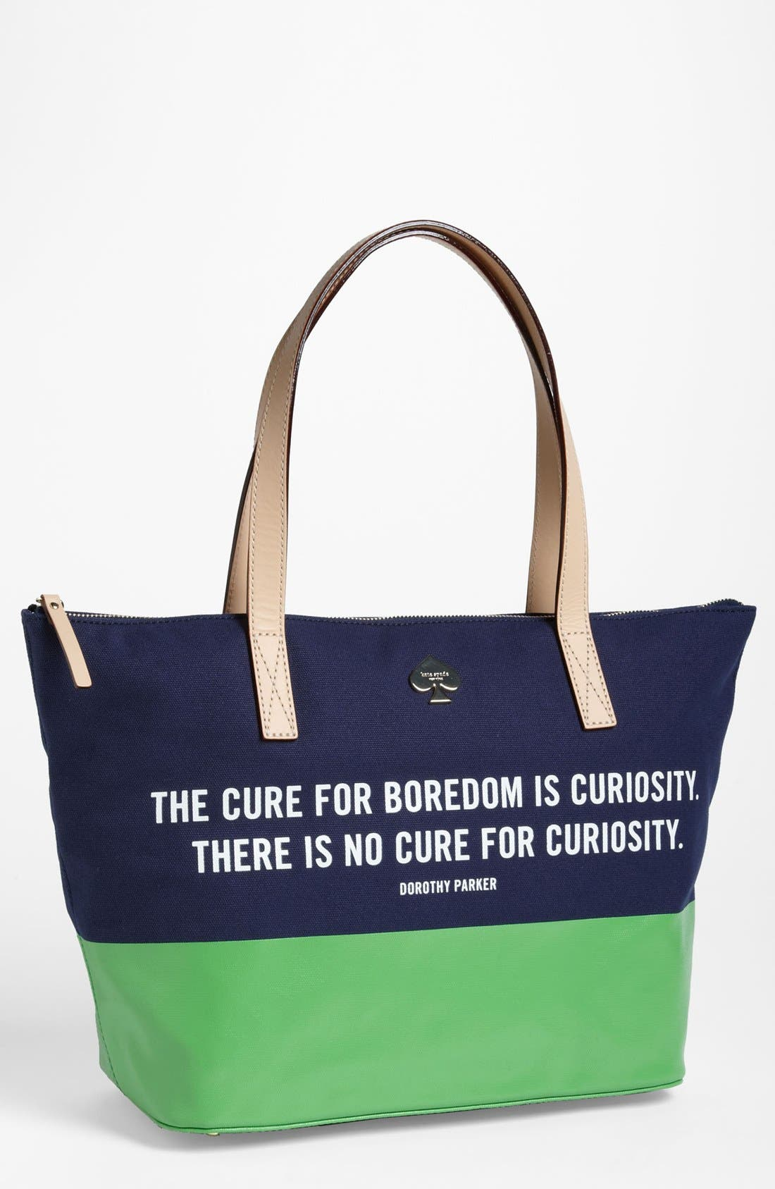 Main Image - kate spade new york 'call to action - small coal' tote