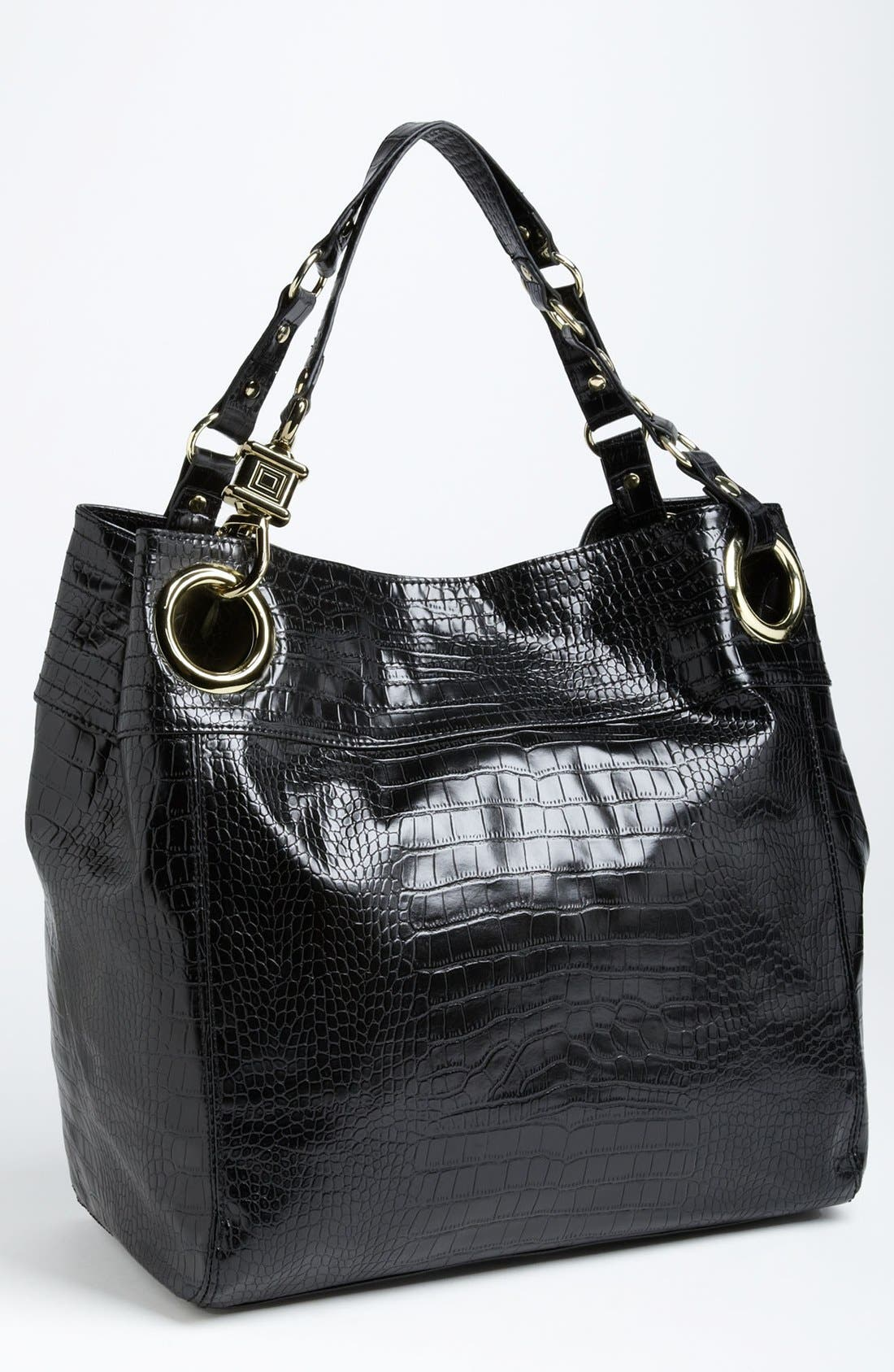 Main Image - Steven by Steve Madden 'Candy Coated' Croc Embossed Tote