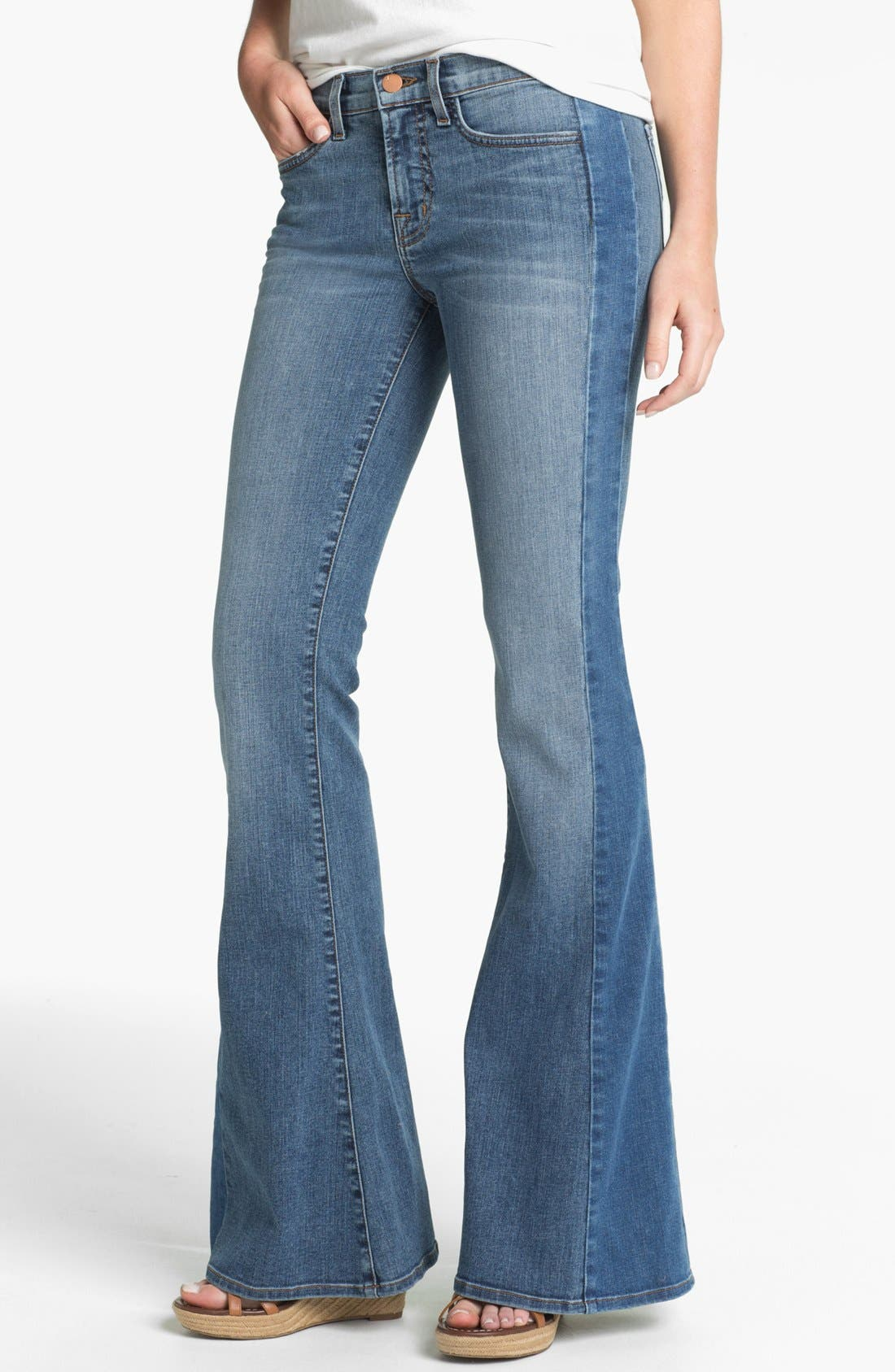 Alternate Image 1 Selected - J Brand 'Chrissy' Flare Leg Jeans (Bliss)