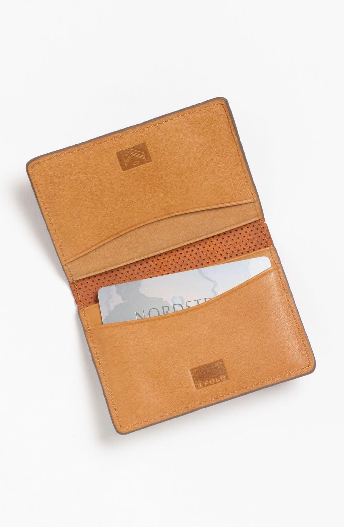 Alternate Image 2  - J Fold 'Microperf' Folding Card Holder