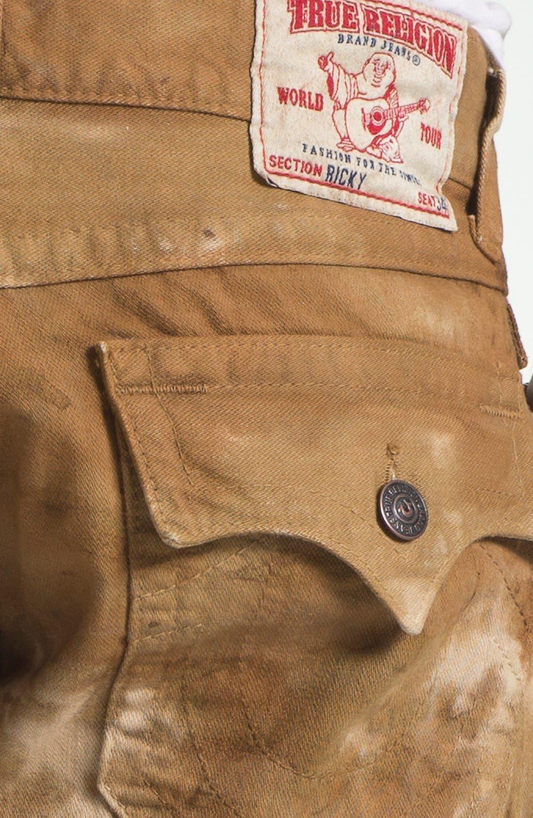 Alternate Image 4  - True Religion Brand Jeans 'Ricky' Straight Leg Jeans (Desert Sand)