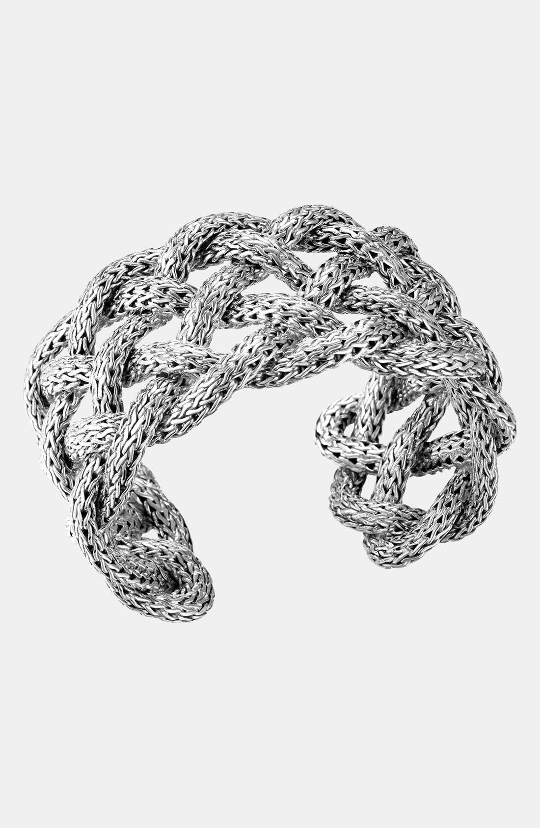 Alternate Image 1 Selected - John Hardy 'Classic Chain' Wide Braided Cuff