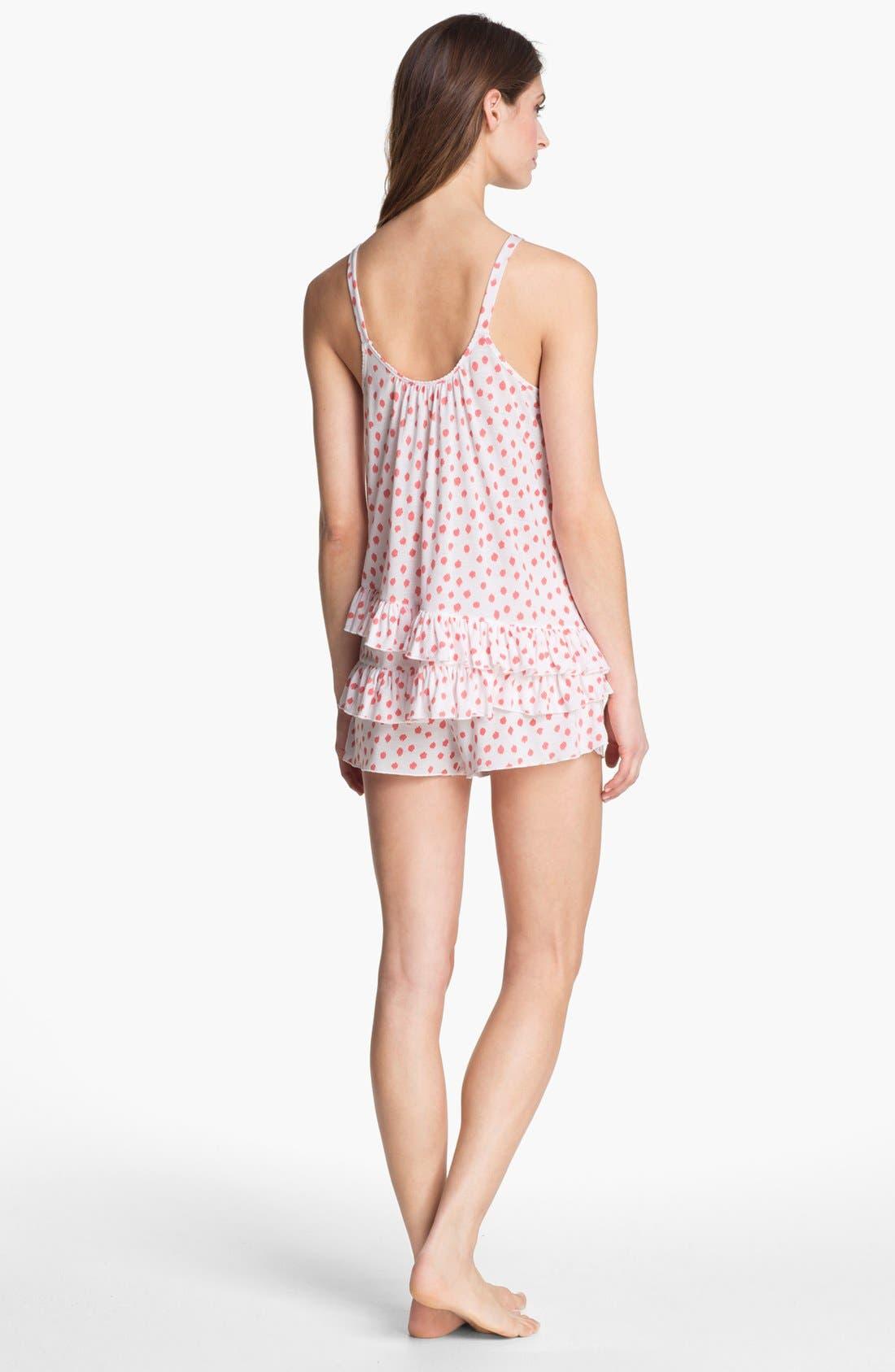 Alternate Image 2  - Oscar de la Renta Sleepwear Ruffle Pajamas