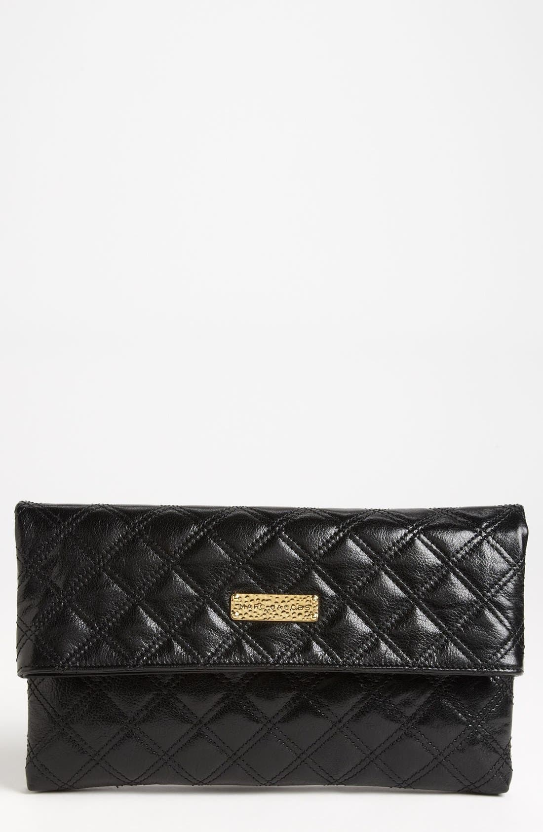 Alternate Image 1 Selected - MARC JACOBS 'Large Baroque Eugenie' Leather Clutch
