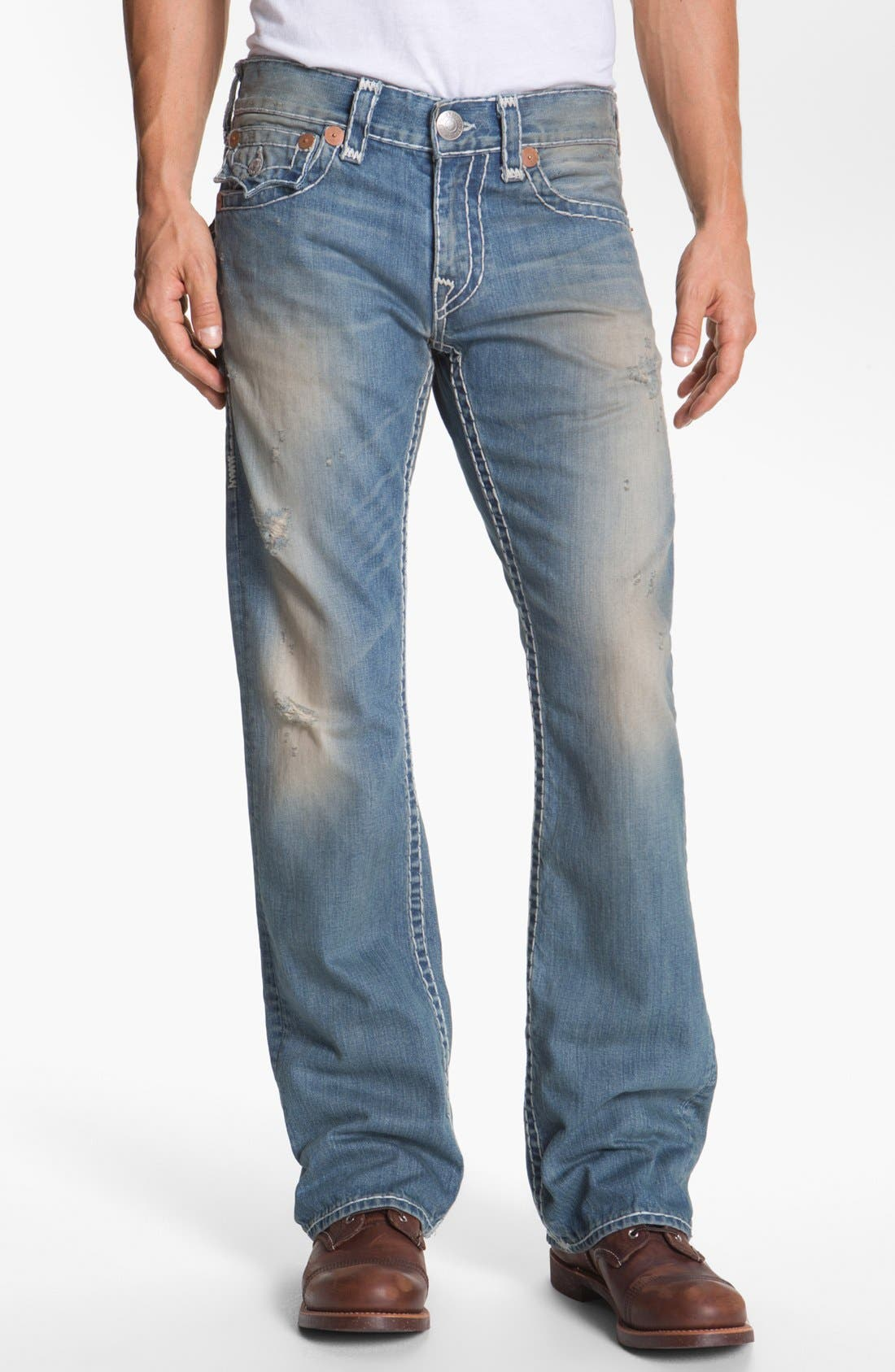 Alternate Image 2  - True Religion Brand Jeans 'Billy - Natural Super-T' Bootcut Jeans (Wicket)