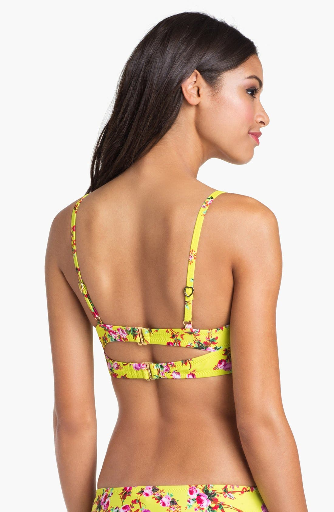 Alternate Image 2  - Betsey Johnson 'True Love' Underwire Bikini Top