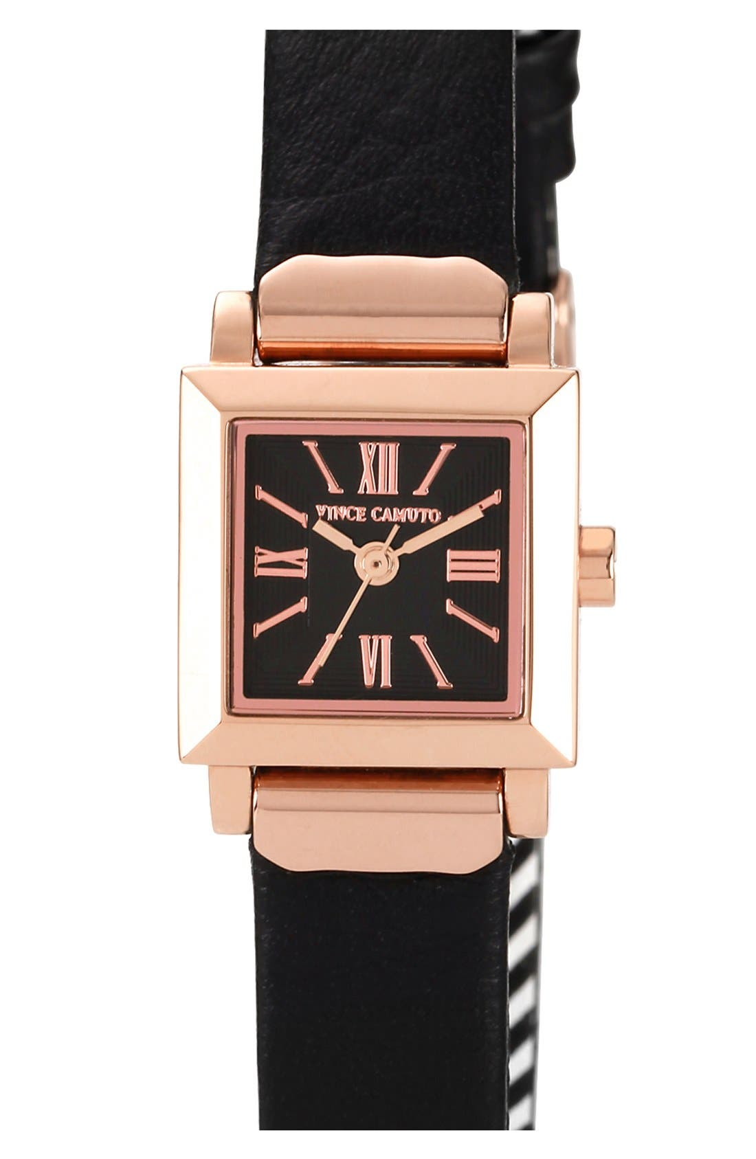 Main Image - Vince Camuto Mini Square Case Watch, 19mm