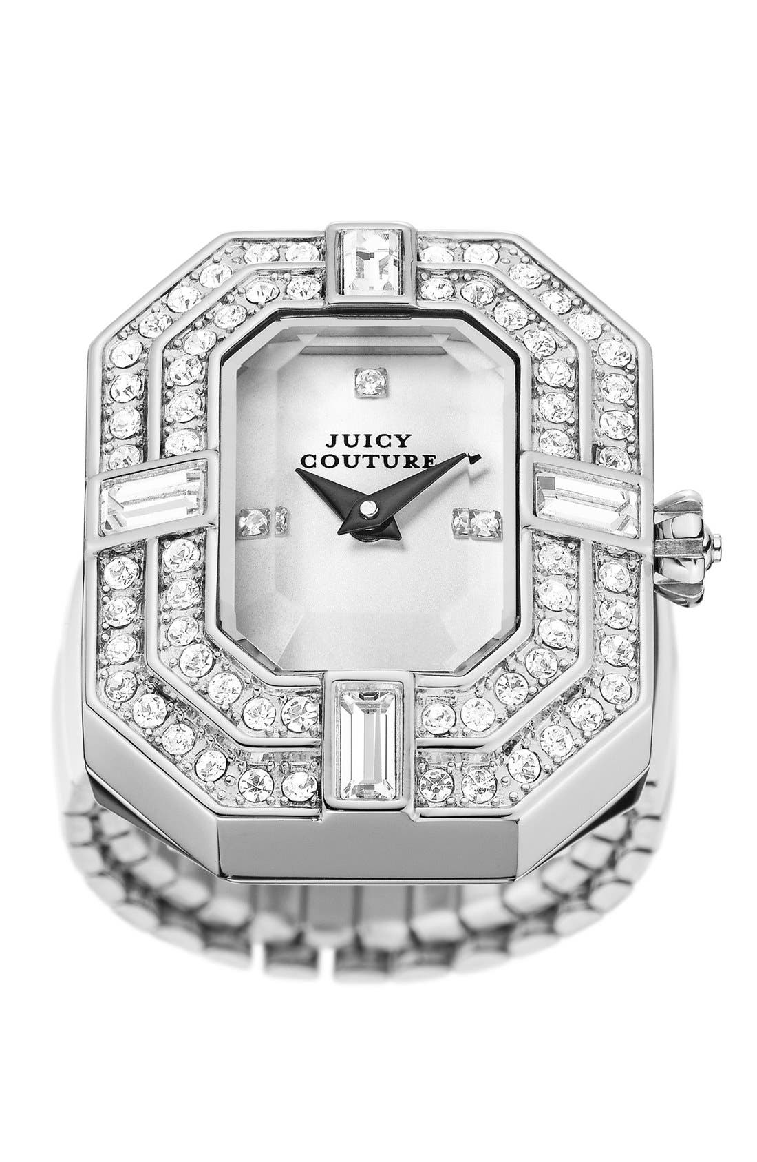 Alternate Image 3  - Juicy Couture 'Marianne' Watch Dial Cocktail Ring, 26mm x 21mm