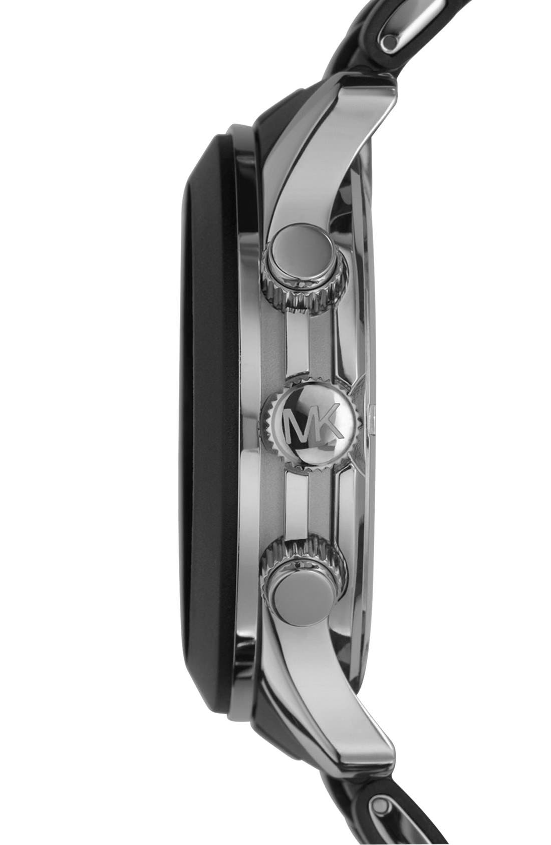 Alternate Image 3  - Michael Kors 'Large Runway Silicone Wrap' Watch, 46mm