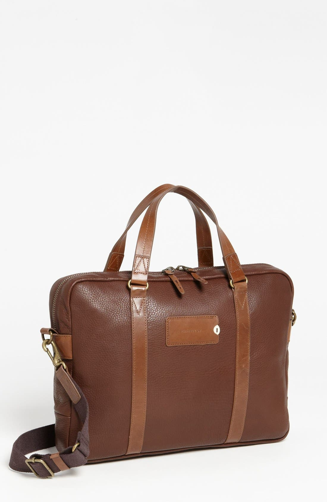 Alternate Image 1 Selected - Property Of… 'Aiden' Leather Briefcase