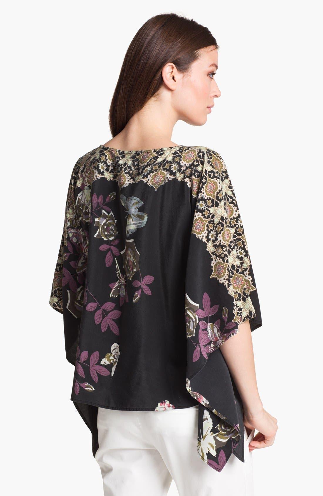Alternate Image 2  - Citron Floral Print Silk Tunic