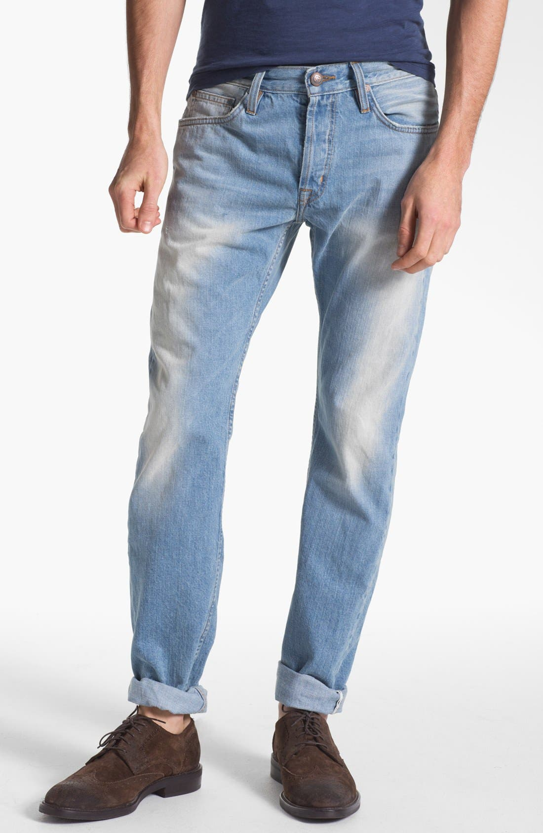 Alternate Image 1 Selected - Asbury Park '1874 Monte Carlo' Straight Leg Selvedge Jeans (Paramount)